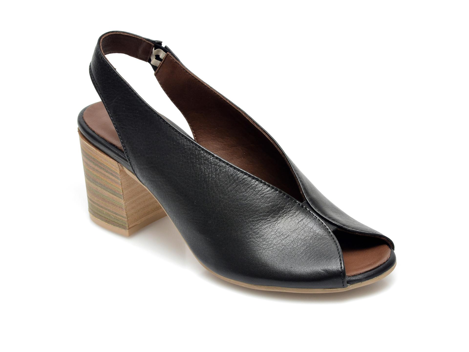 Sandale BABOOS negre, 1806, din piele naturala imagine otter.ro 2021