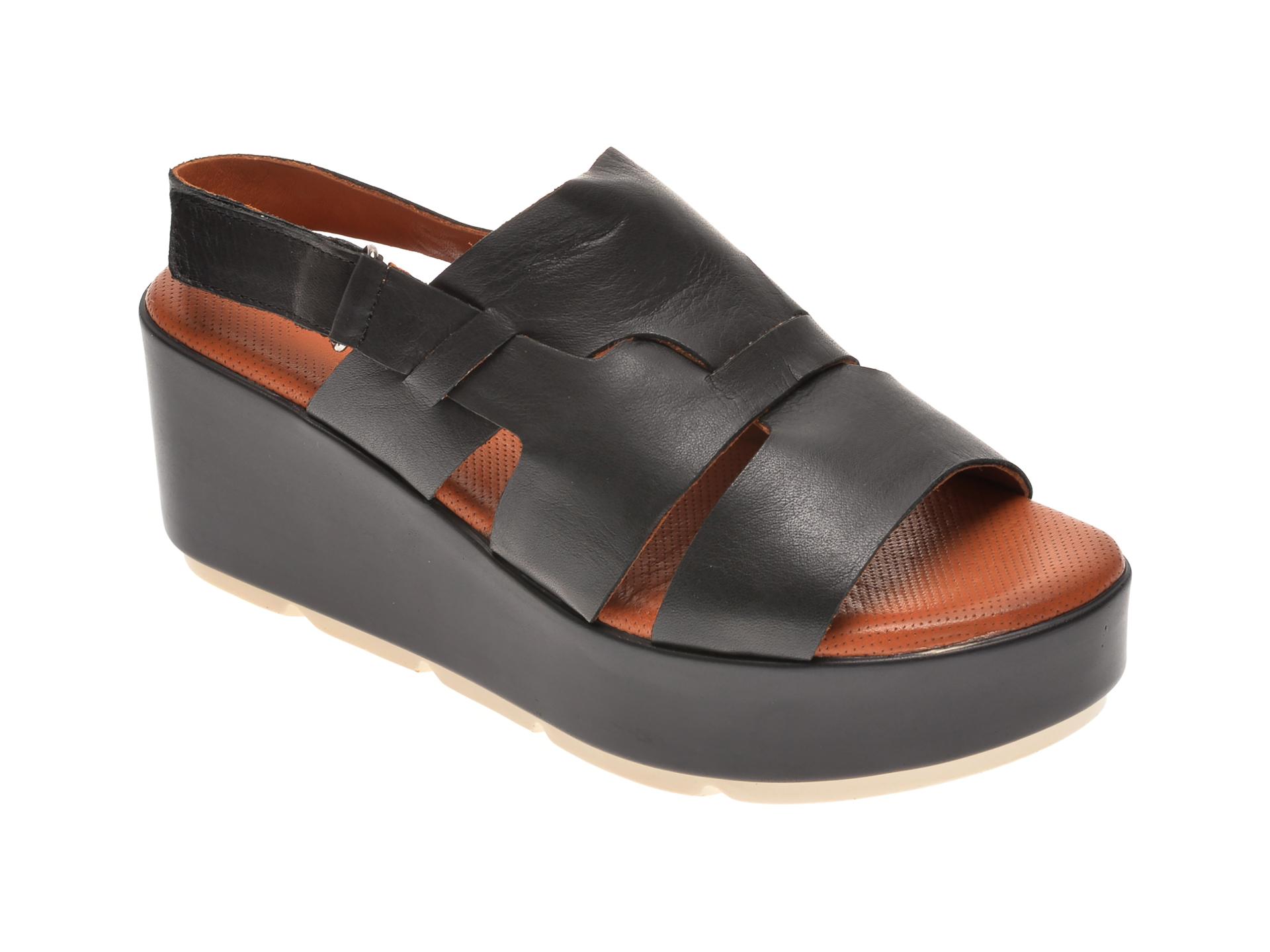 Sandale BABOOS negre, 2519, din piele naturala
