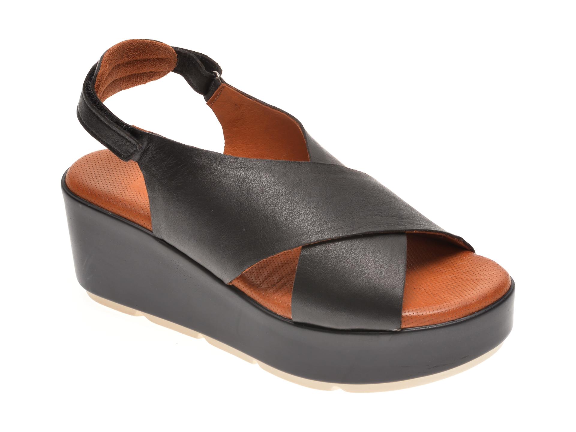 Sandale BABOOS negre, 2520, din piele naturala