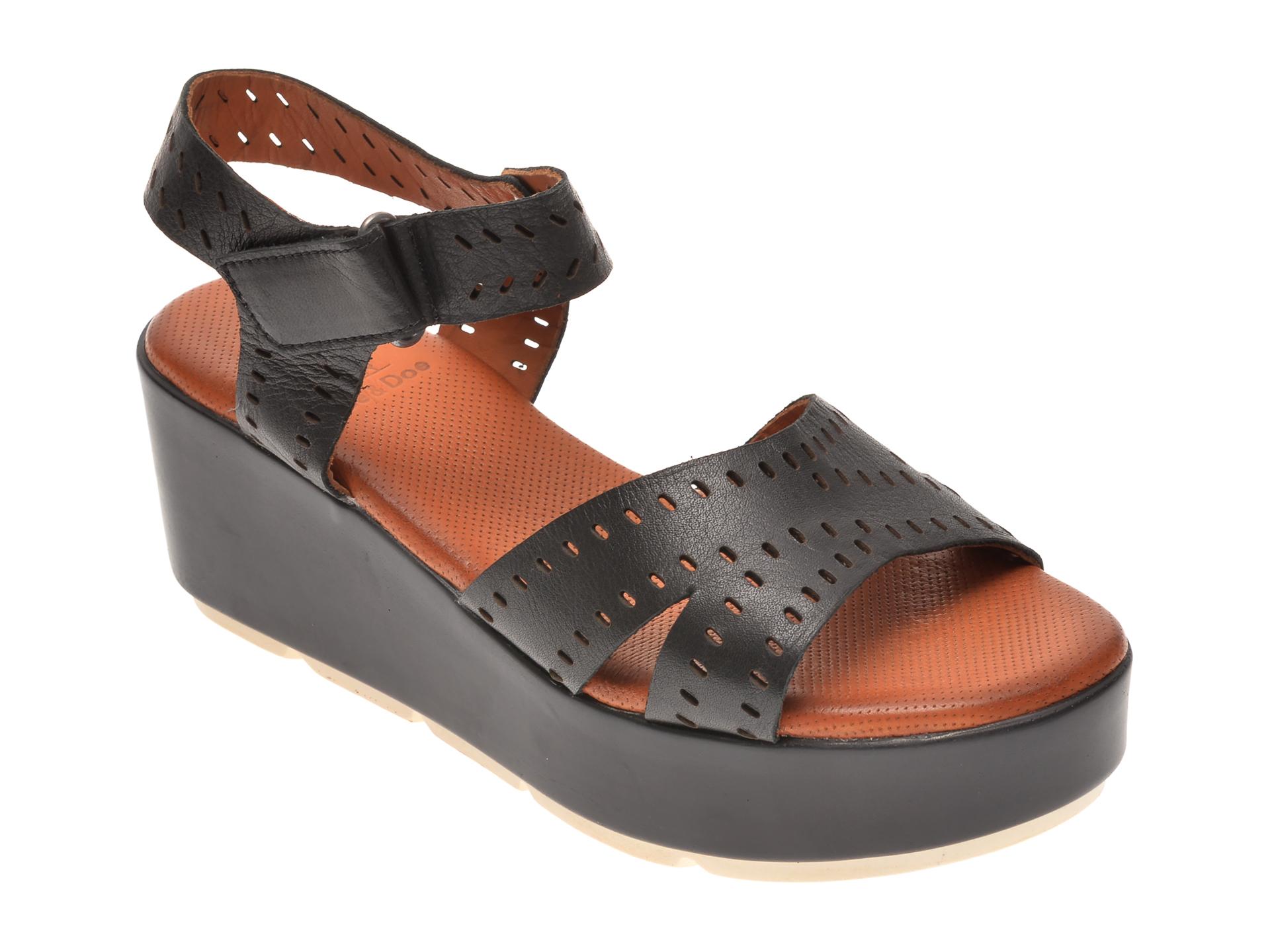 Sandale BABOOS negre, 2521, din piele naturala New