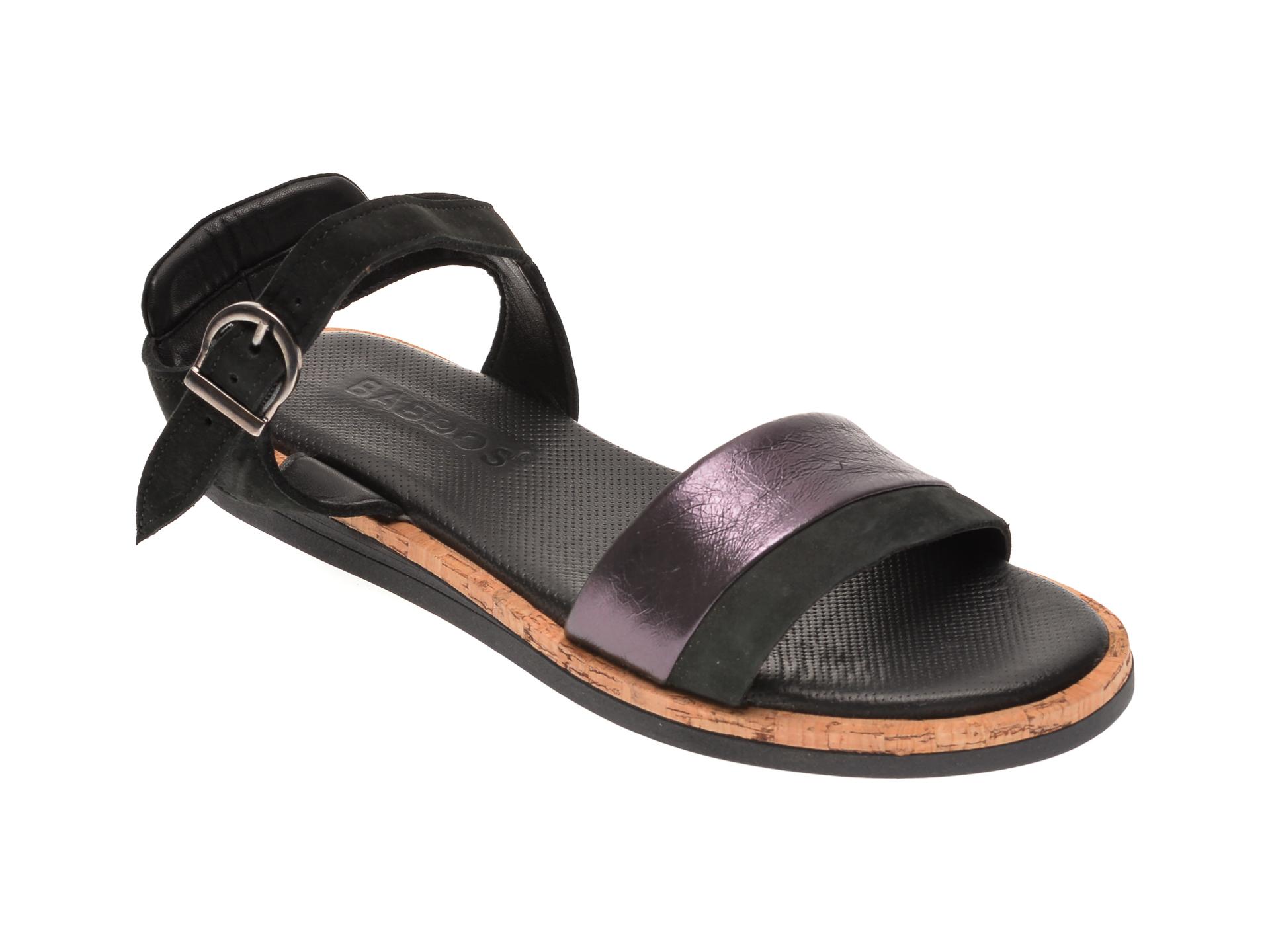 Sandale BABOOS negre, 3101, din piele naturala