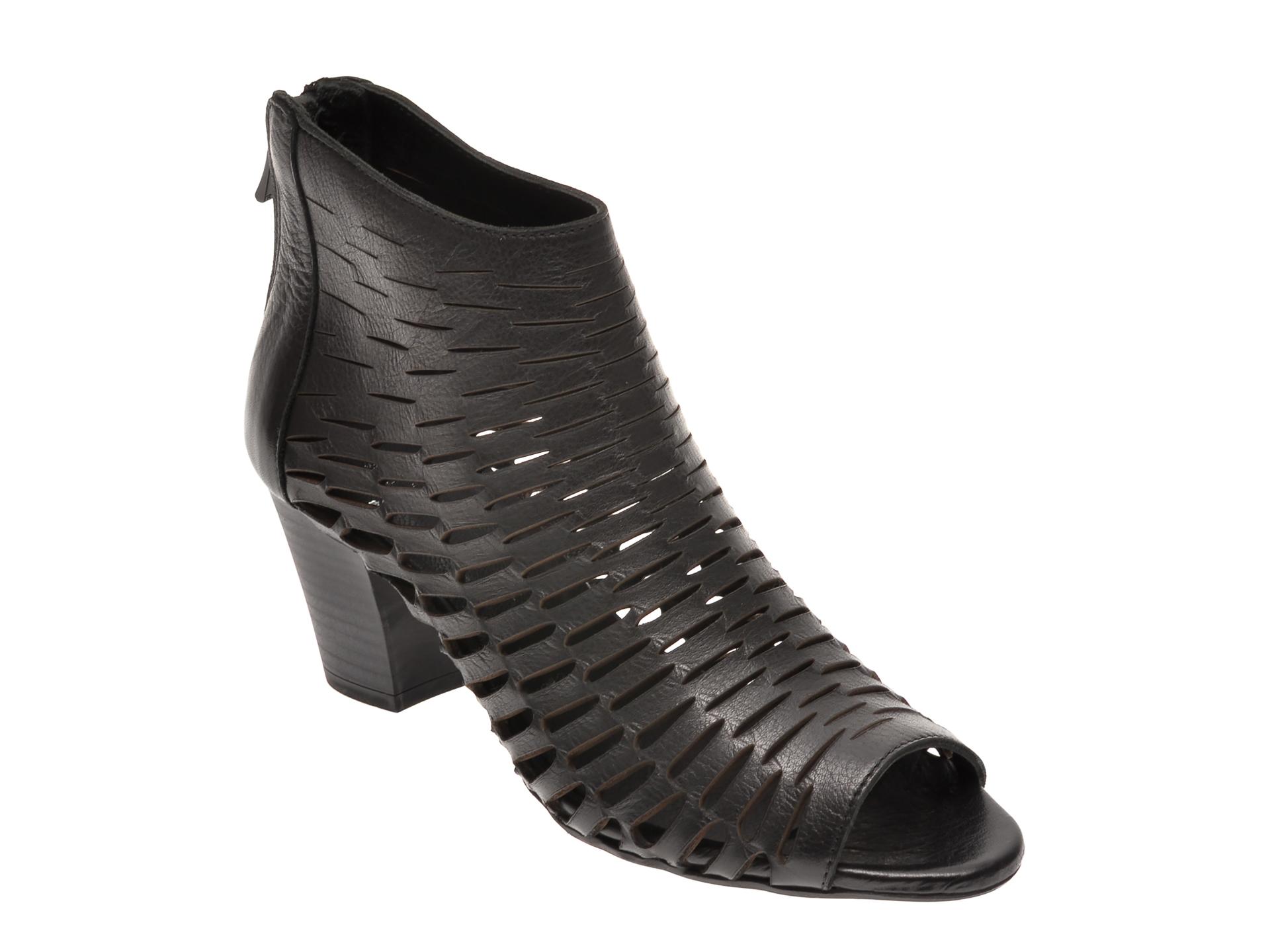 Sandale BABOOS negre, 339, din piele naturala New