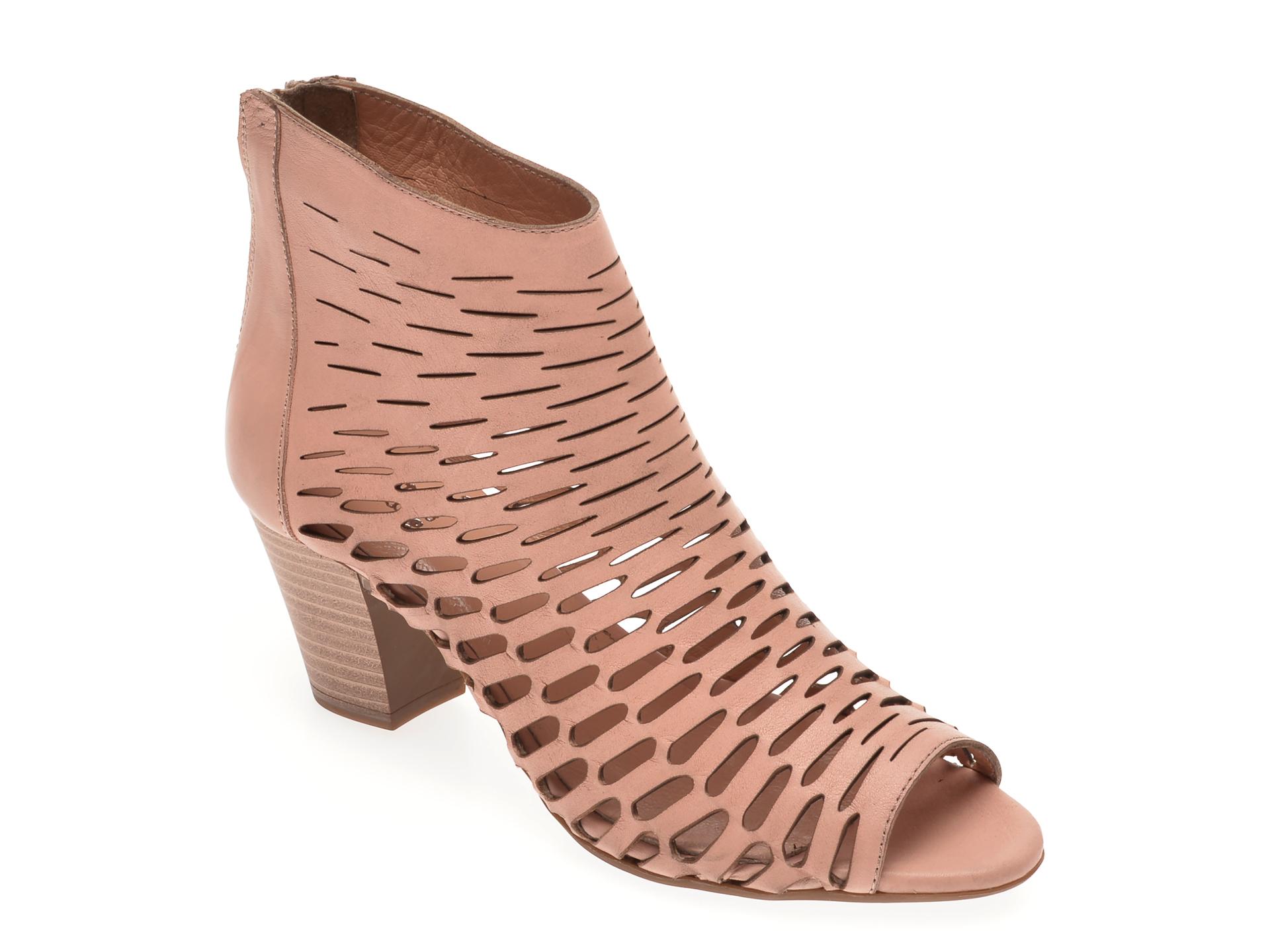 Sandale BABOOS nude, 339, din piele naturala