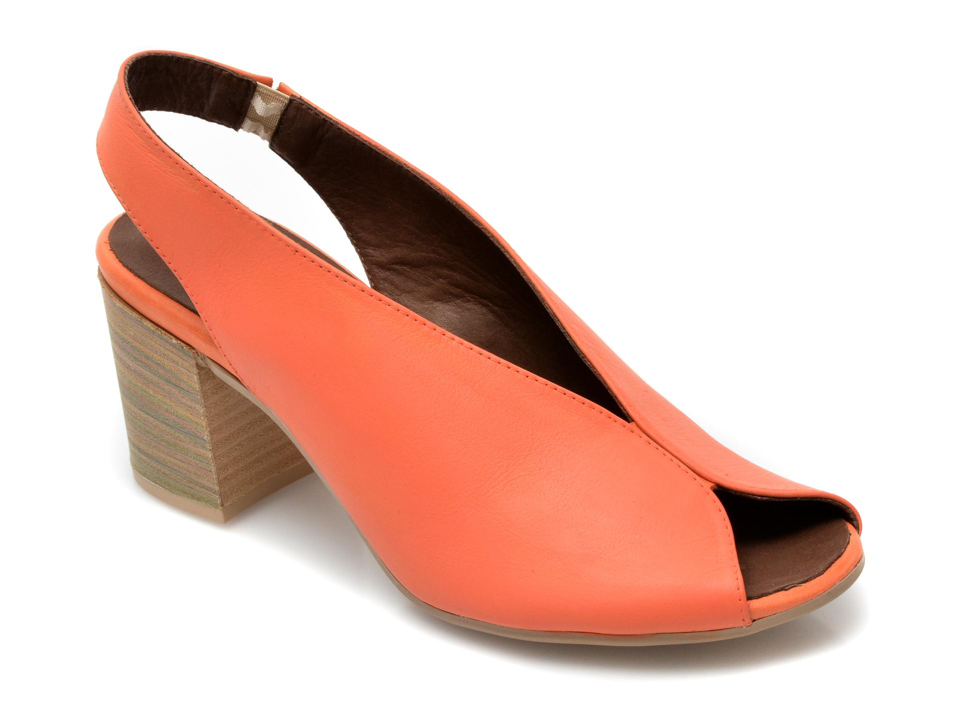 Sandale BABOOS portocalii, 1806, din piele naturala imagine otter.ro 2021