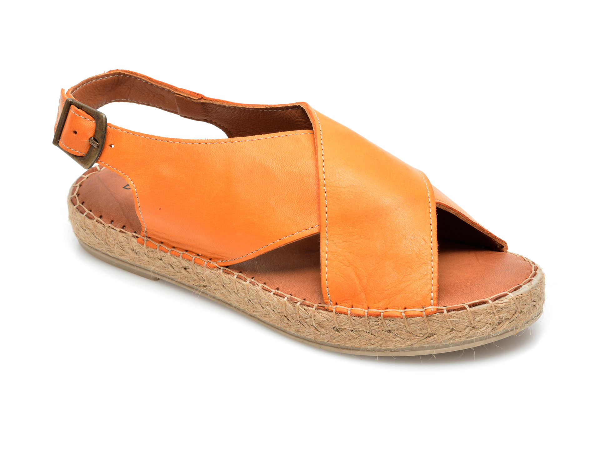 Sandale BABOOS portocalii, R05, din piele naturala imagine otter.ro 2021
