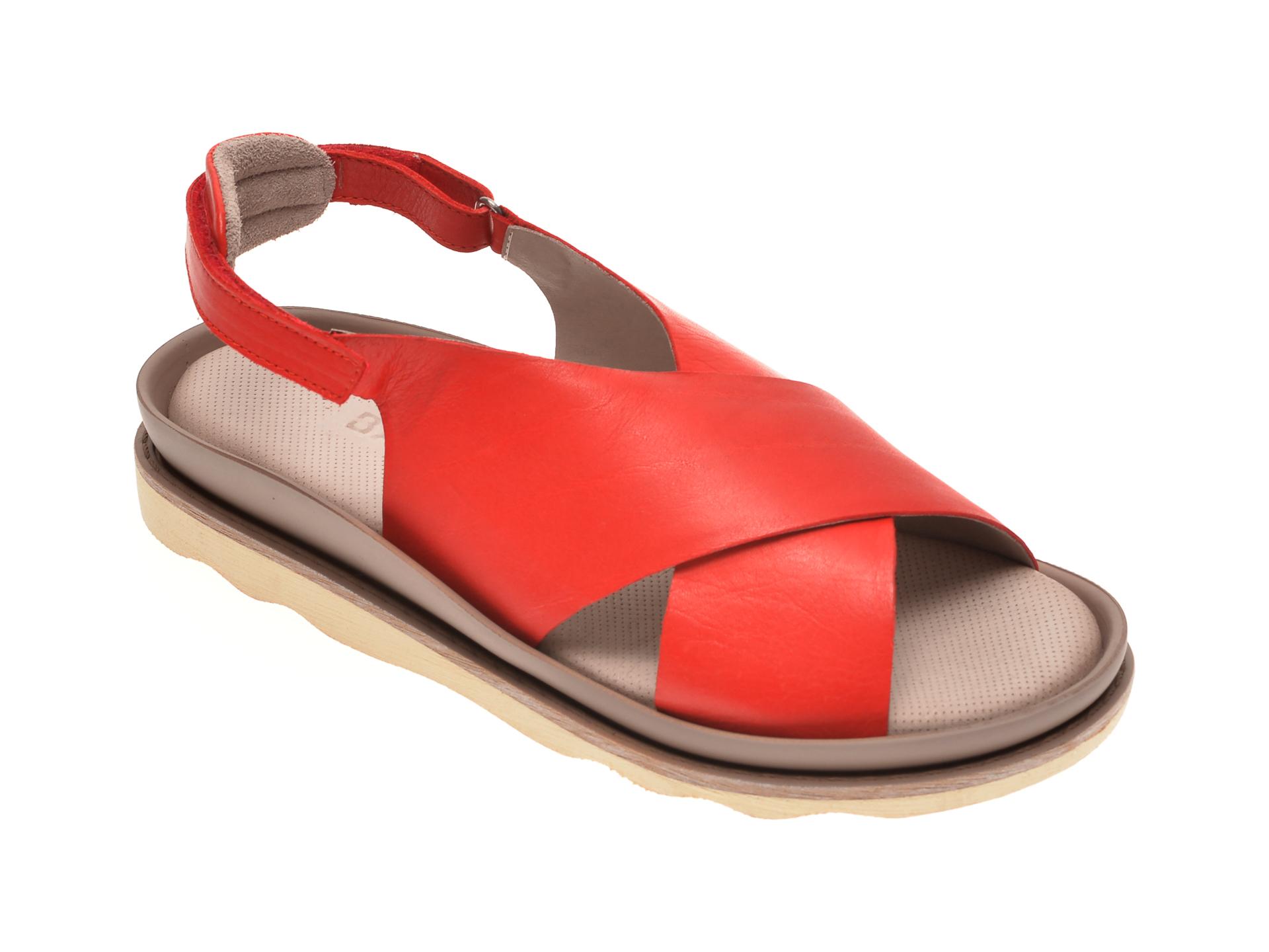 Sandale BABOOS rosii, 0403, din piele naturala
