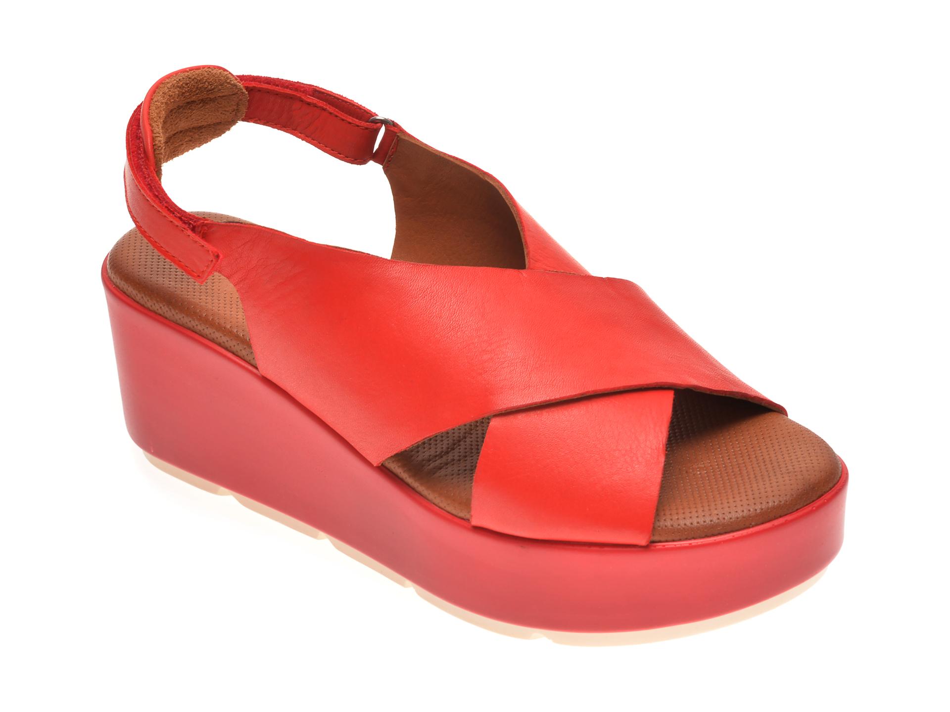Sandale BABOOS rosii, 2520, din piele naturala imagine