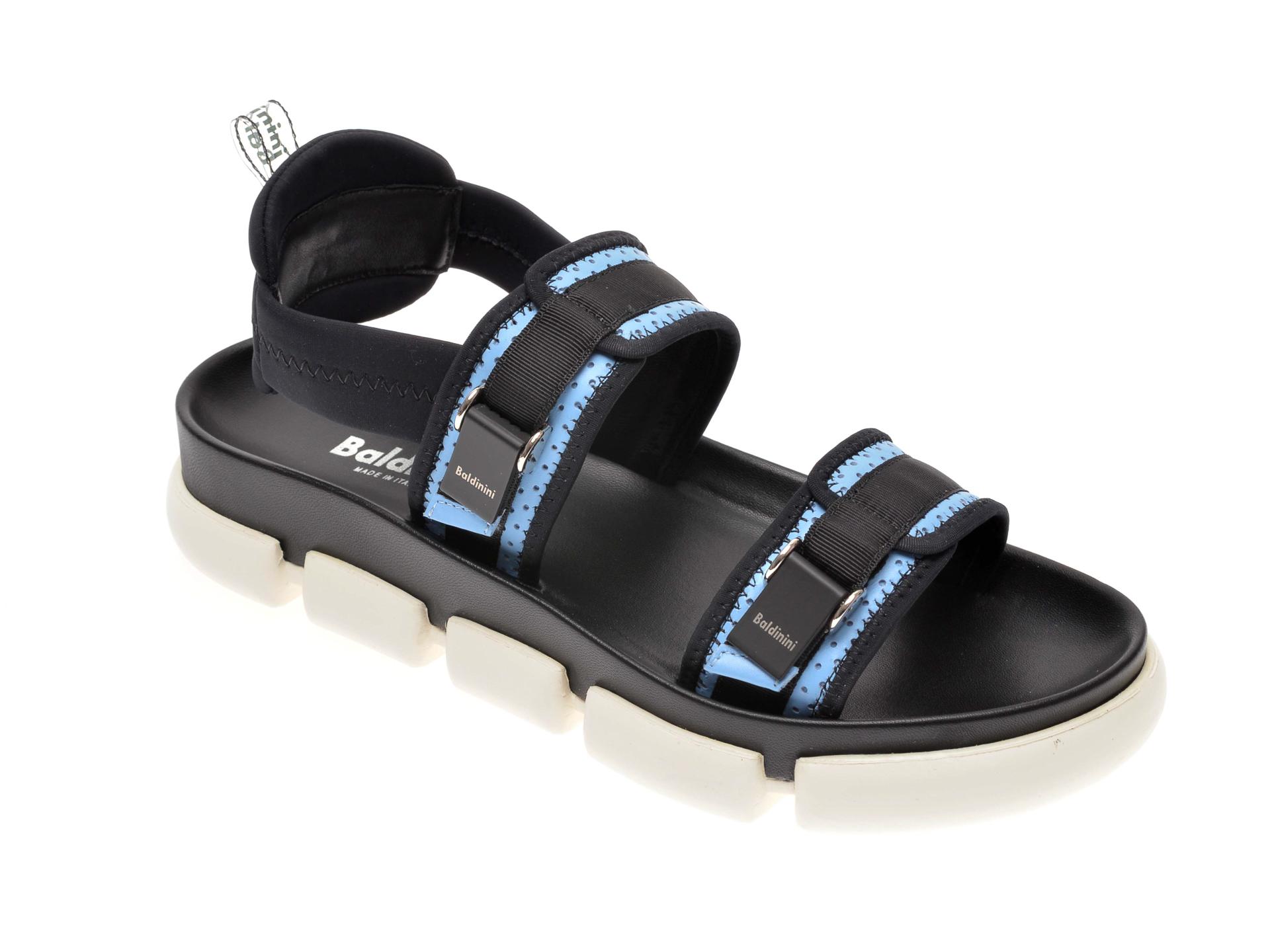 Sandale BALDININI negre, 063500, din material textil
