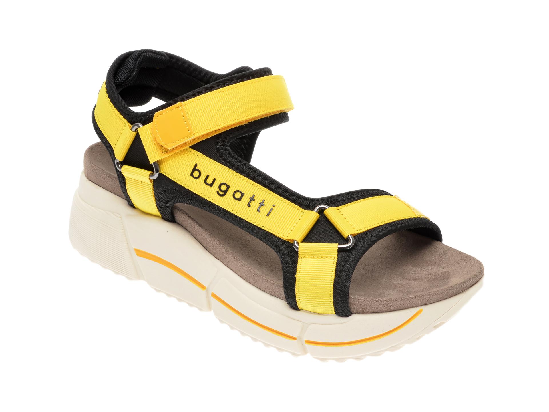 Sandale BUGATTI galbene, 88182, din piele ecologica