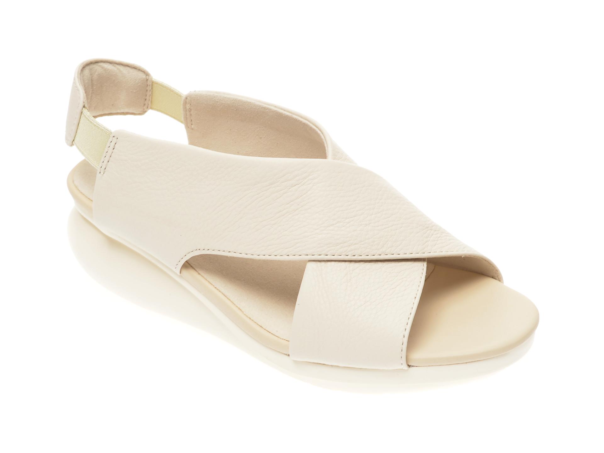 Sandale CAMPER albe, K200066, din piele naturala imagine