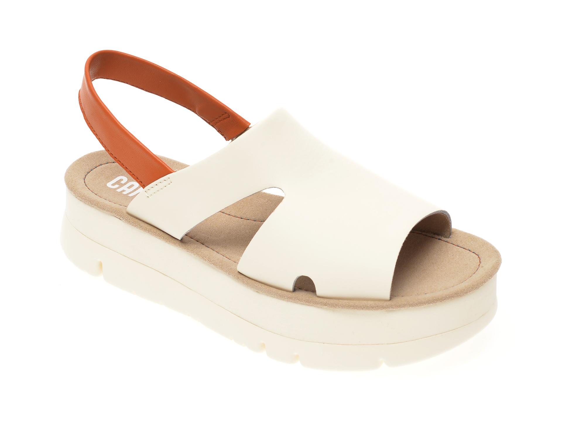 Sandale CAMPER albe, K200848, din piele naturala