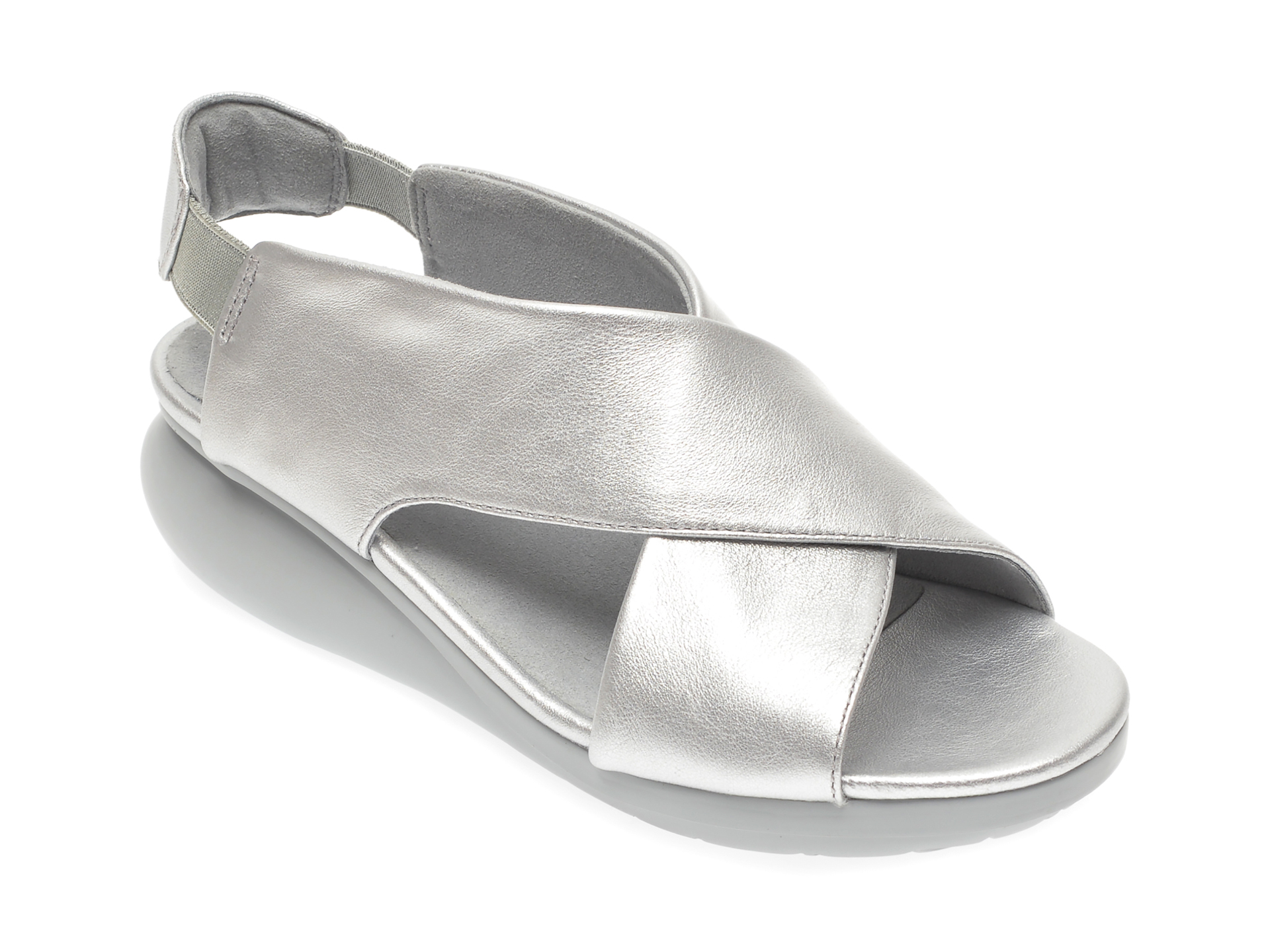 Sandale CAMPER argintii, K200066, din piele naturala imagine