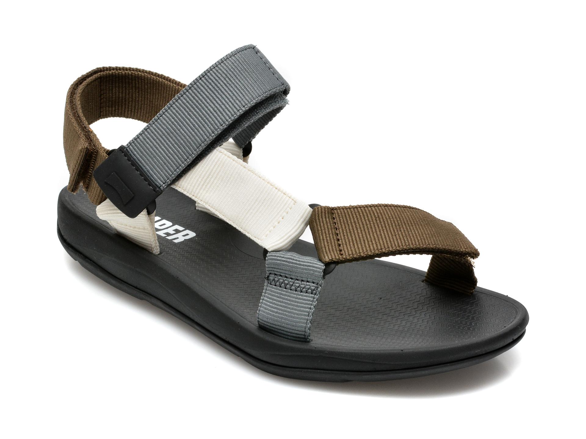 Sandale CAMPER gri, K100539, din material textil imagine otter.ro