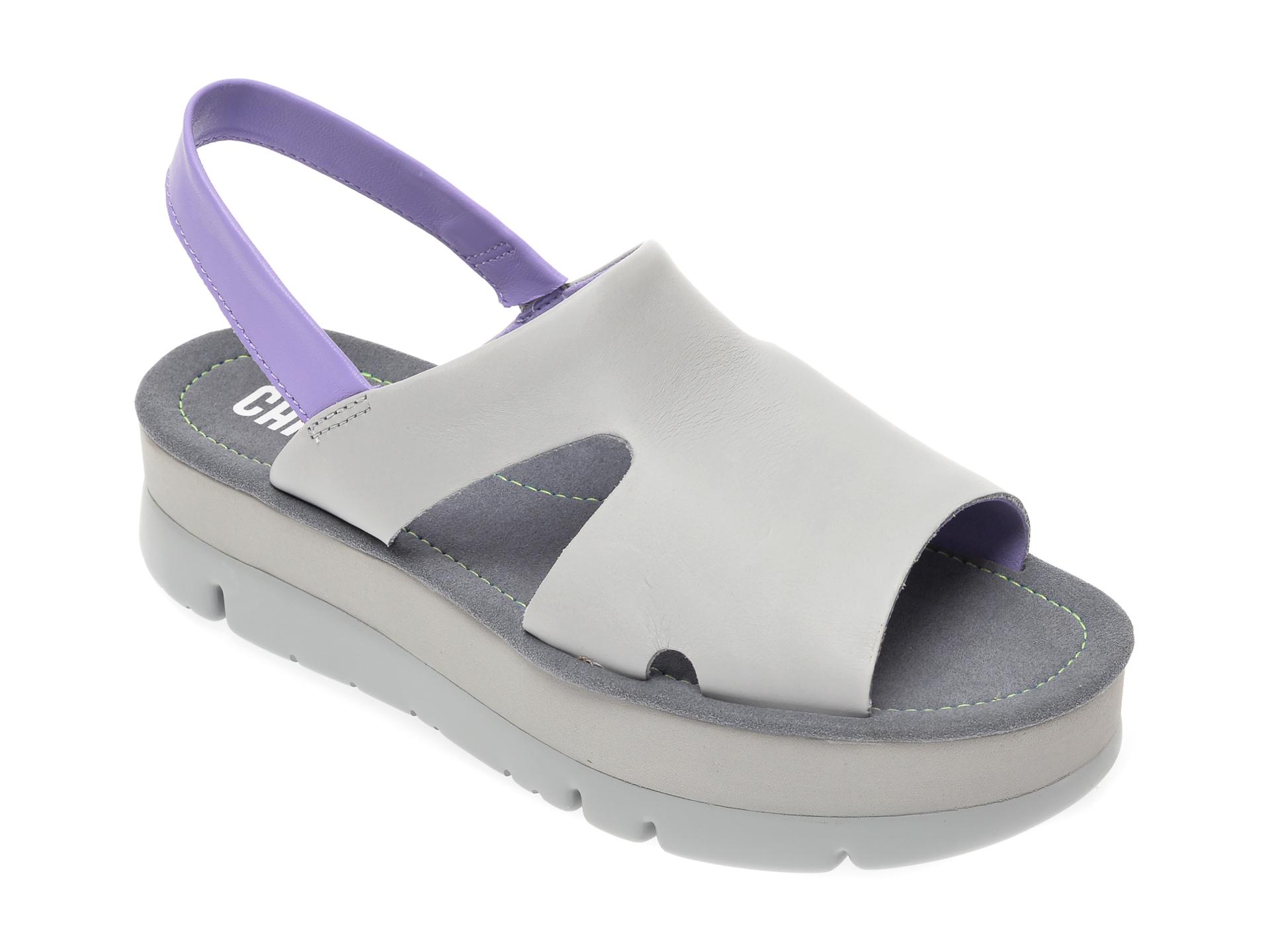 Sandale CAMPER gri, K200848, din piele naturala imagine