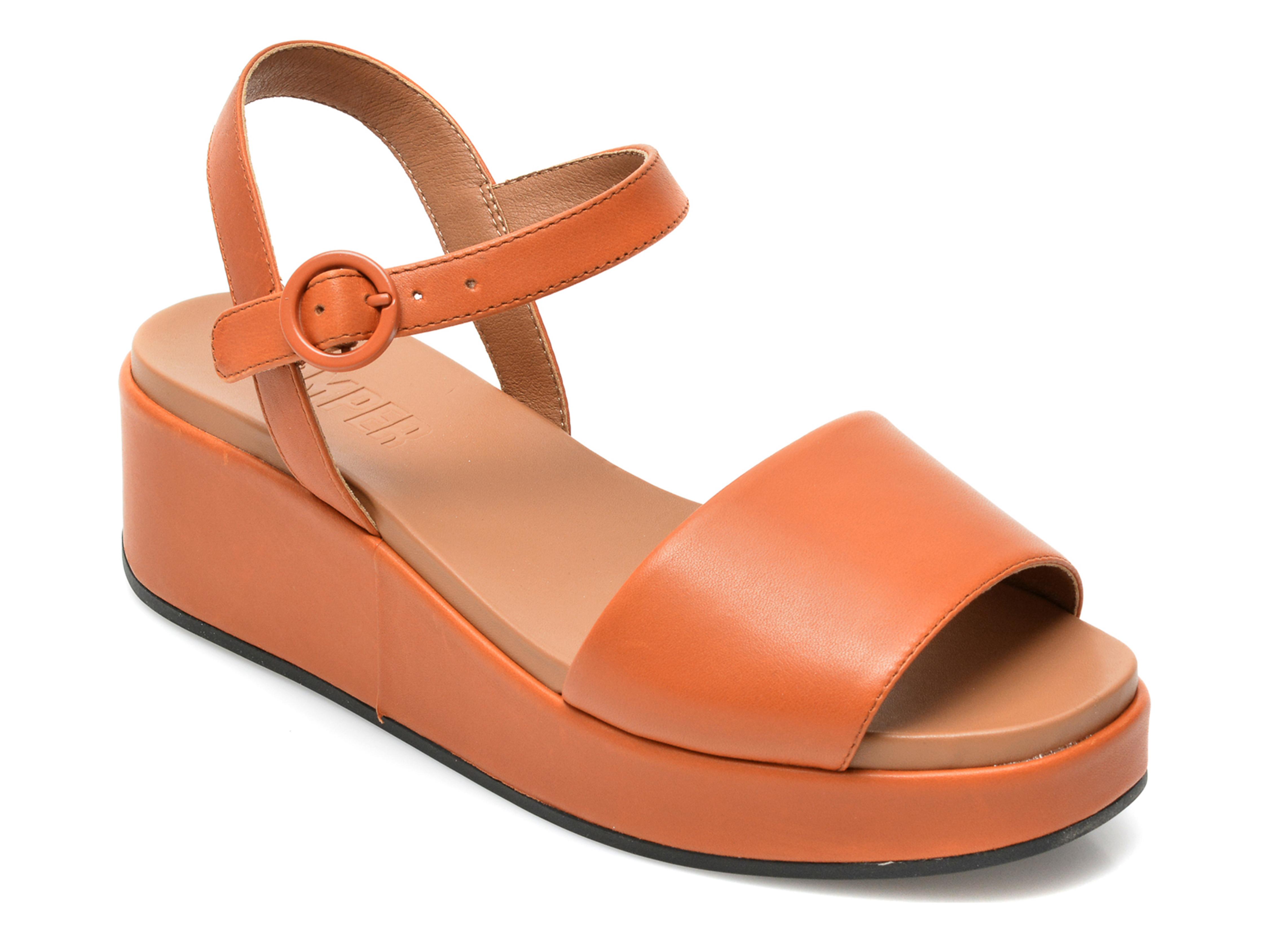 Sandale CAMPER maro, K200564, din piele naturala imagine otter.ro