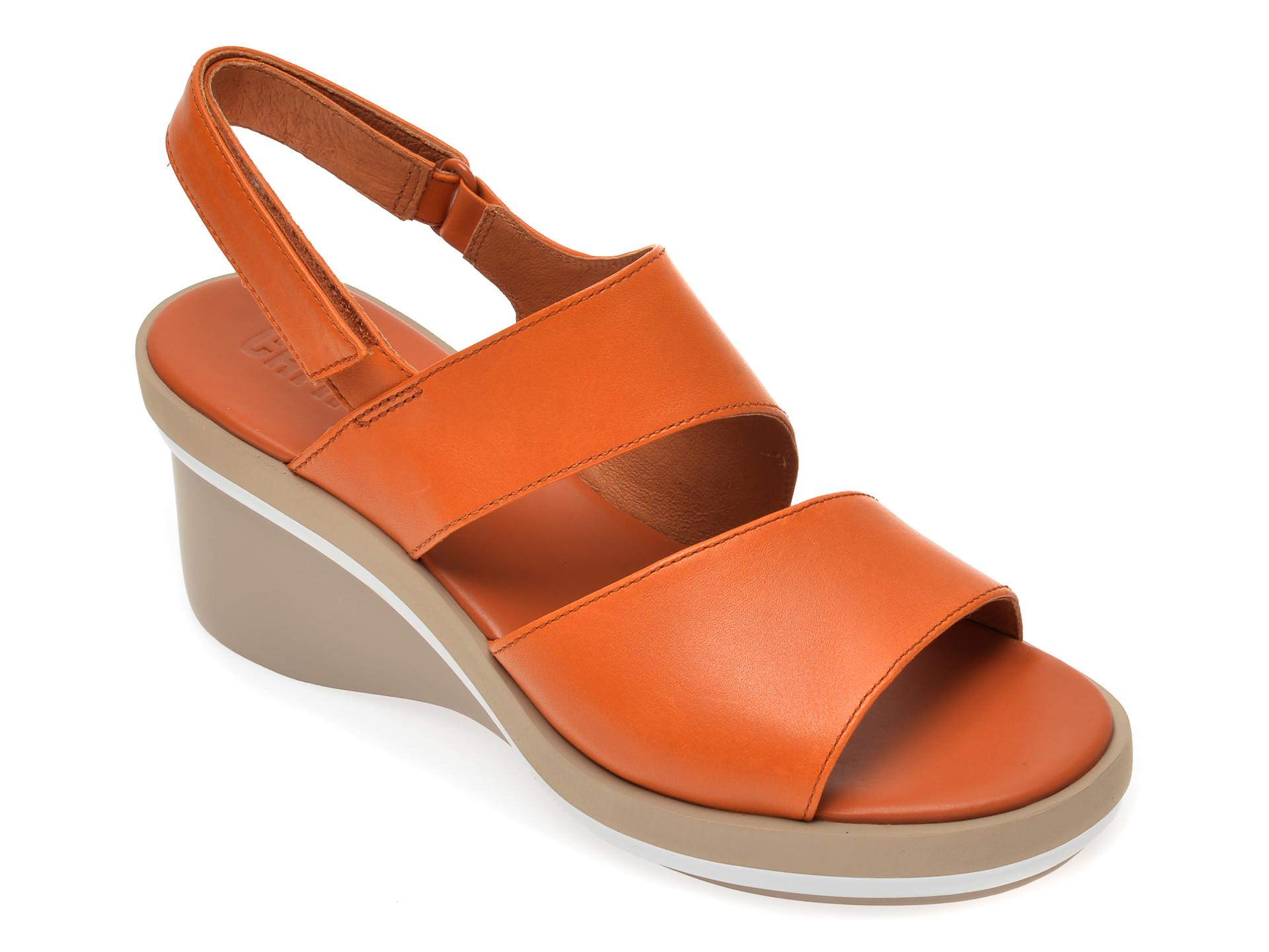Sandale CAMPER maro, K200965, din piele naturala imagine