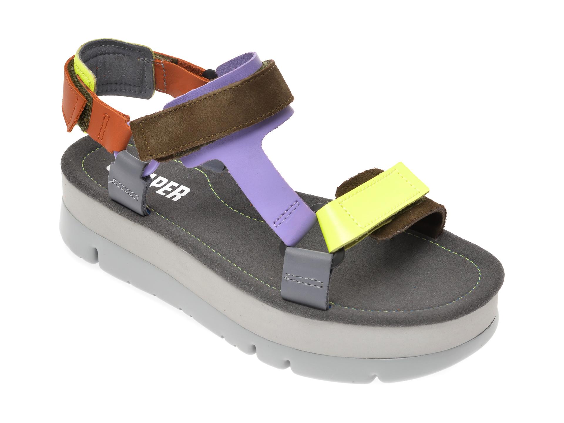 Sandale CAMPER multicolor, K201037, din piele naturala imagine