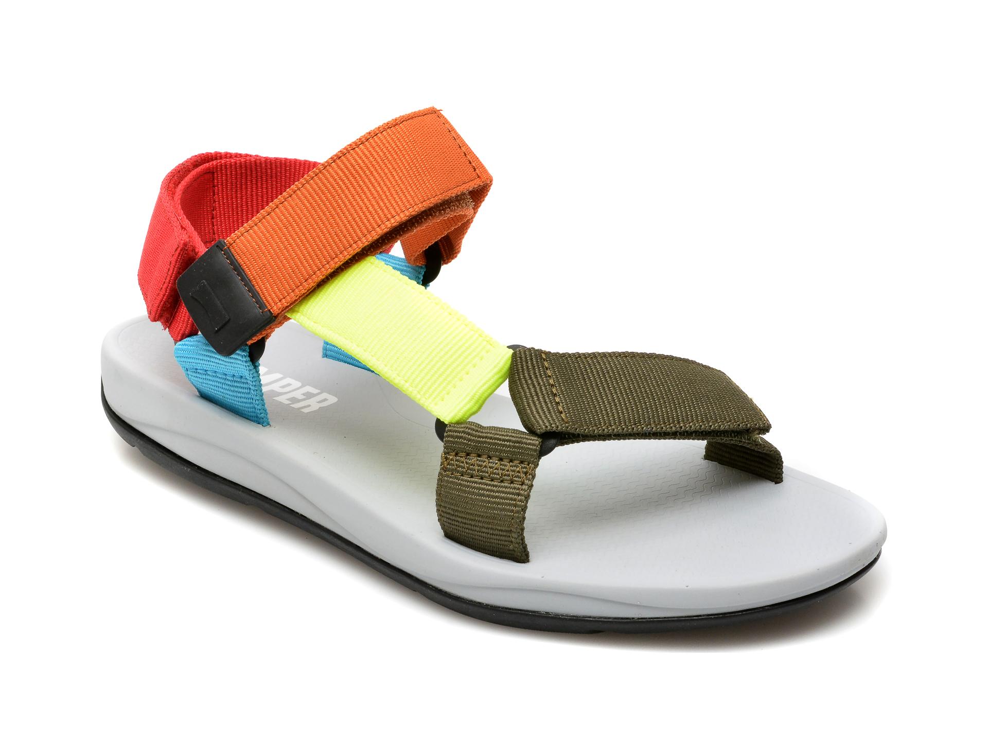 Sandale CAMPER multicolore, K100539, din material textil imagine
