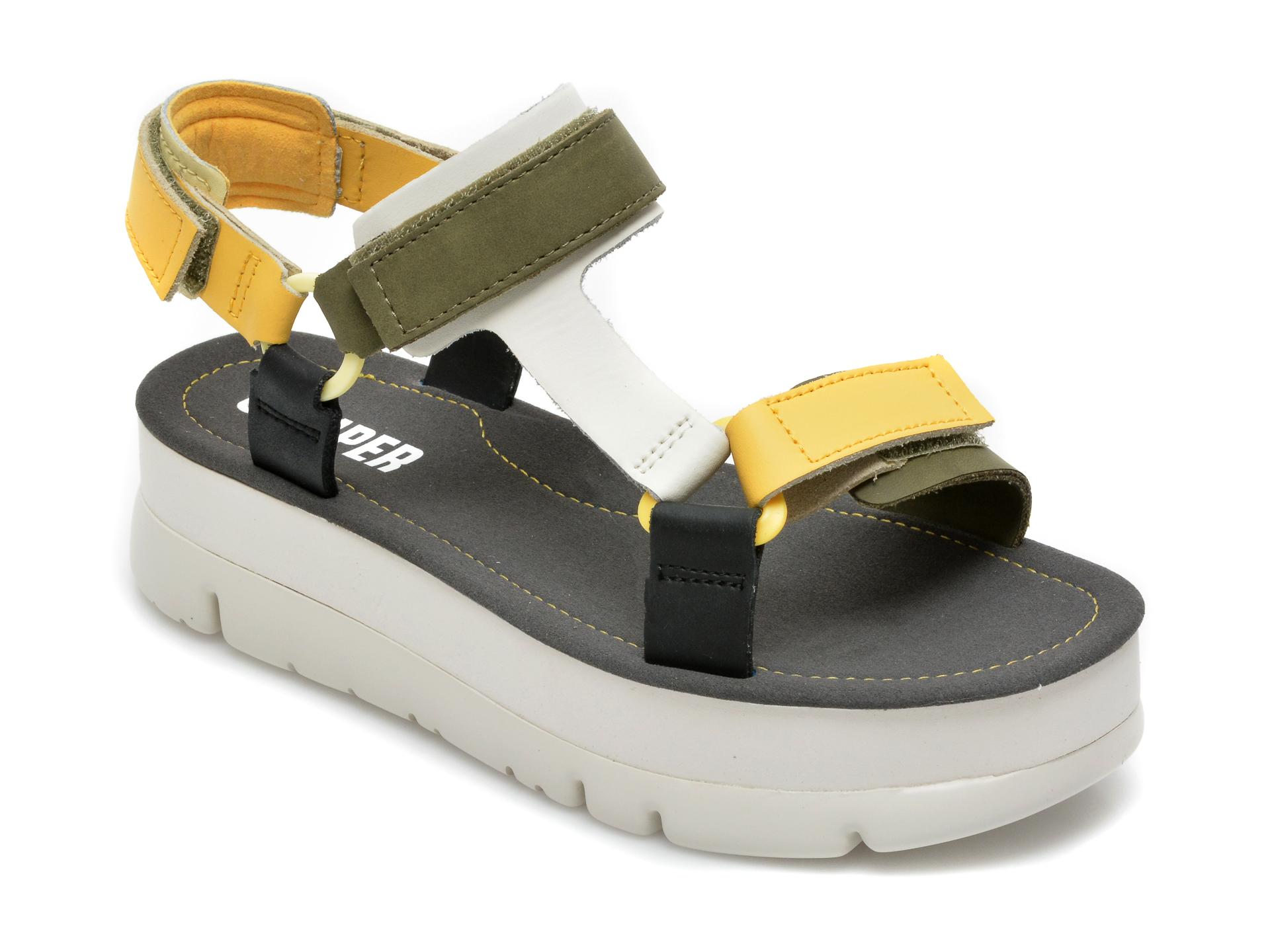 Sandale CAMPER negre, K201037, din piele naturala