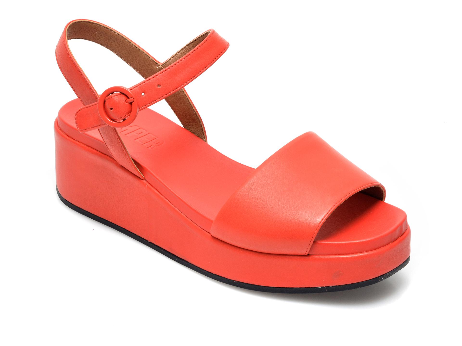 Sandale CAMPER rosii, K200564, din piele naturala imagine otter.ro 2021