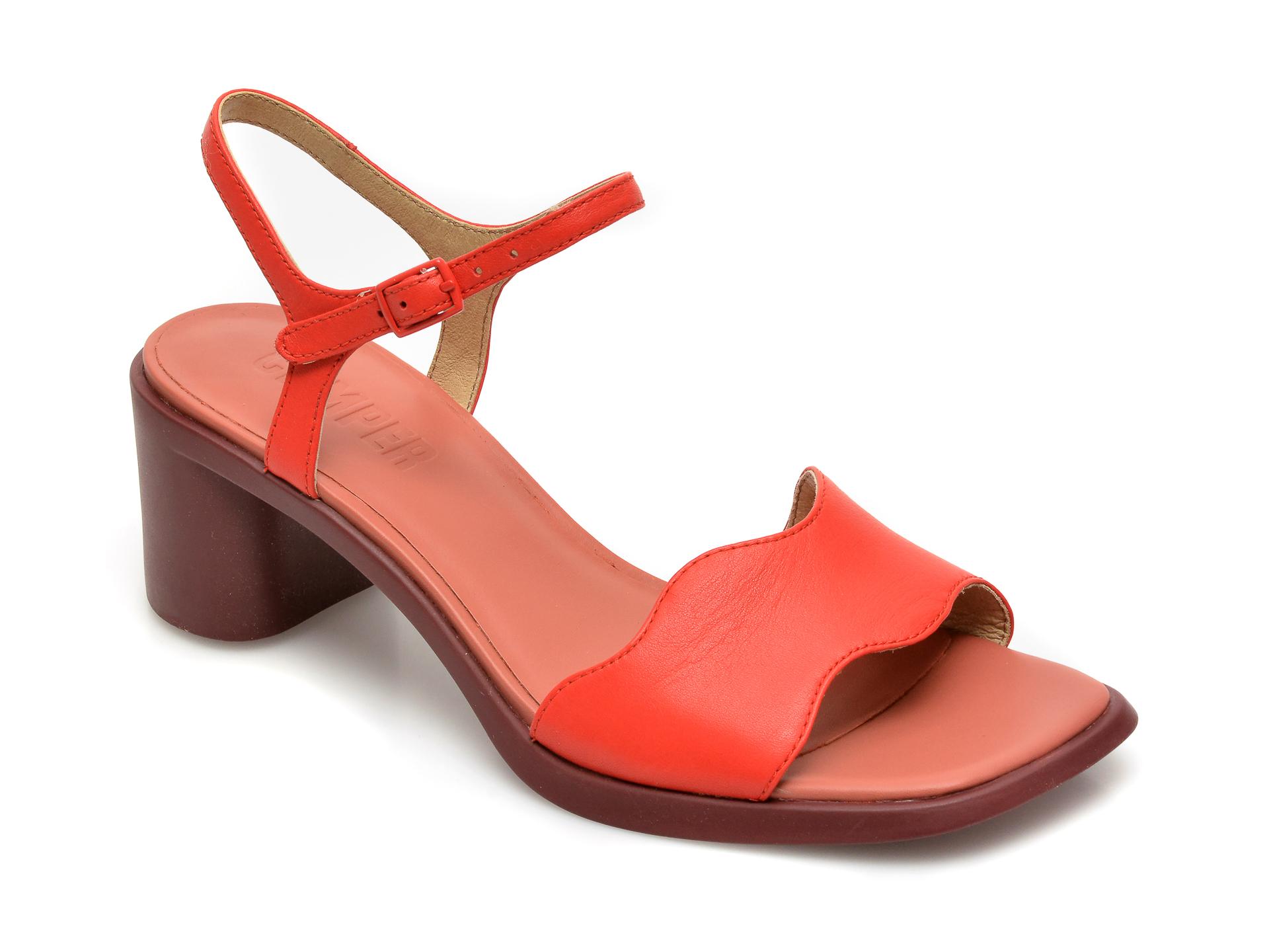 Sandale CAMPER rosii, K201168, din piele naturala imagine otter.ro 2021