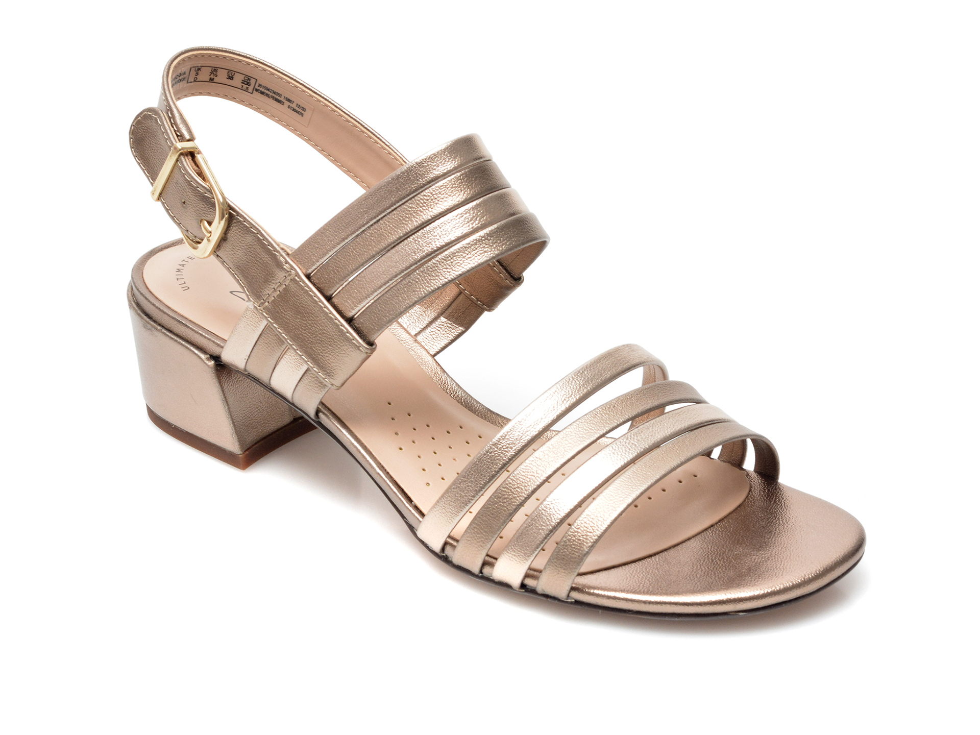 Sandale CLARKS aurii, Caroleigh Bess, din piele ecologica imagine otter.ro 2021