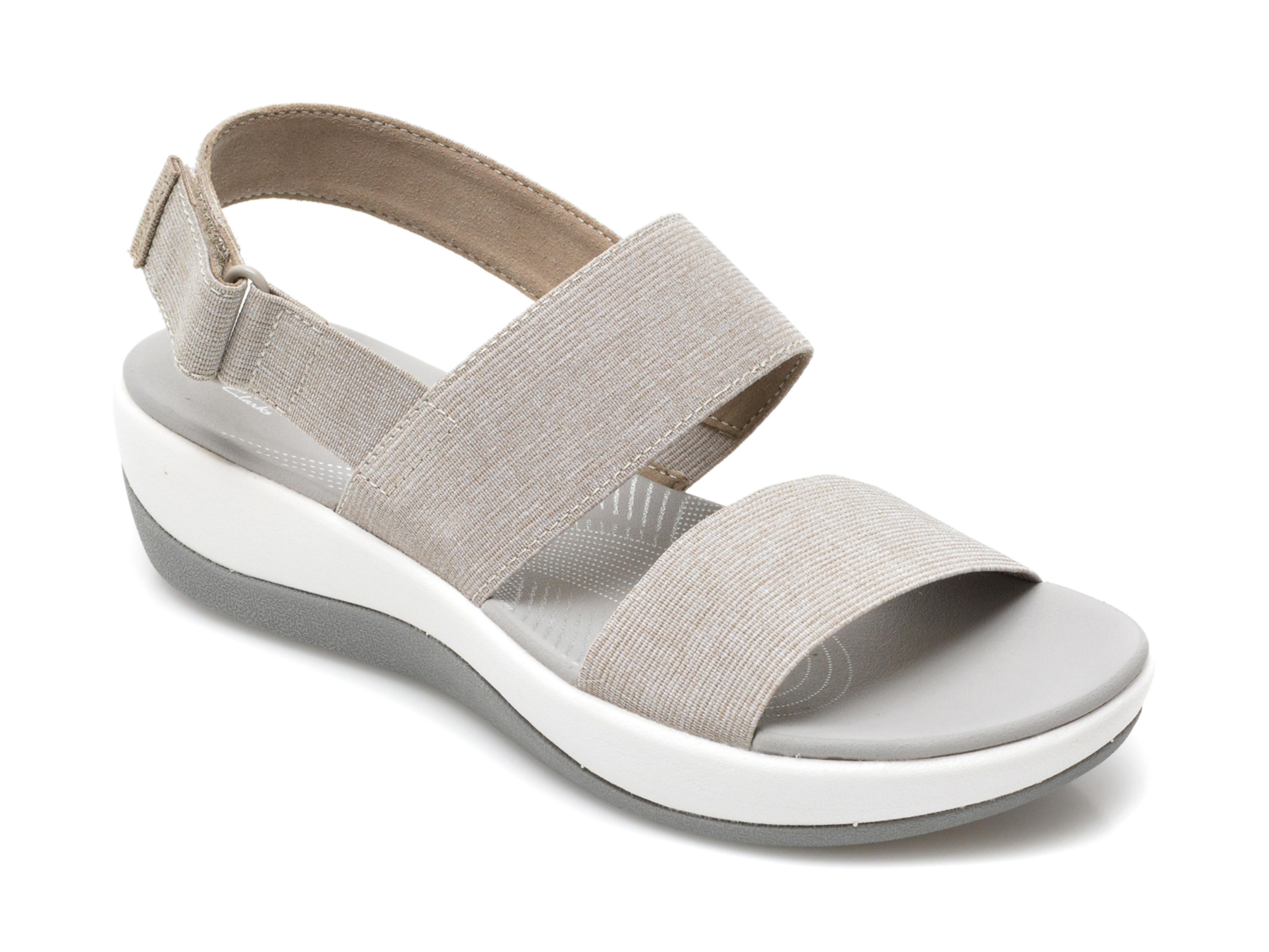 Sandale CLARKS bej, Arla Jacory, din material textil imagine otter.ro