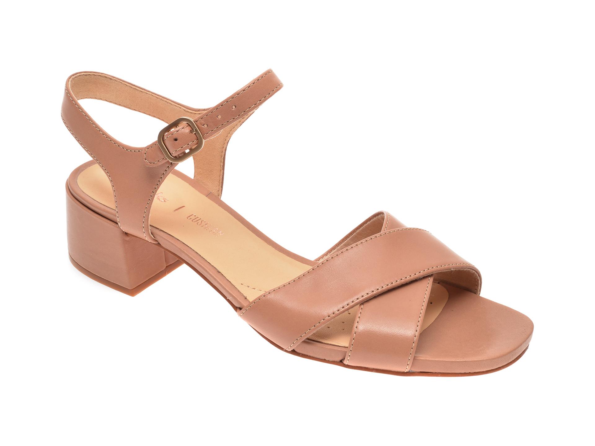 Sandale CLARKS bej, Sheer35 Strap, din piele naturala