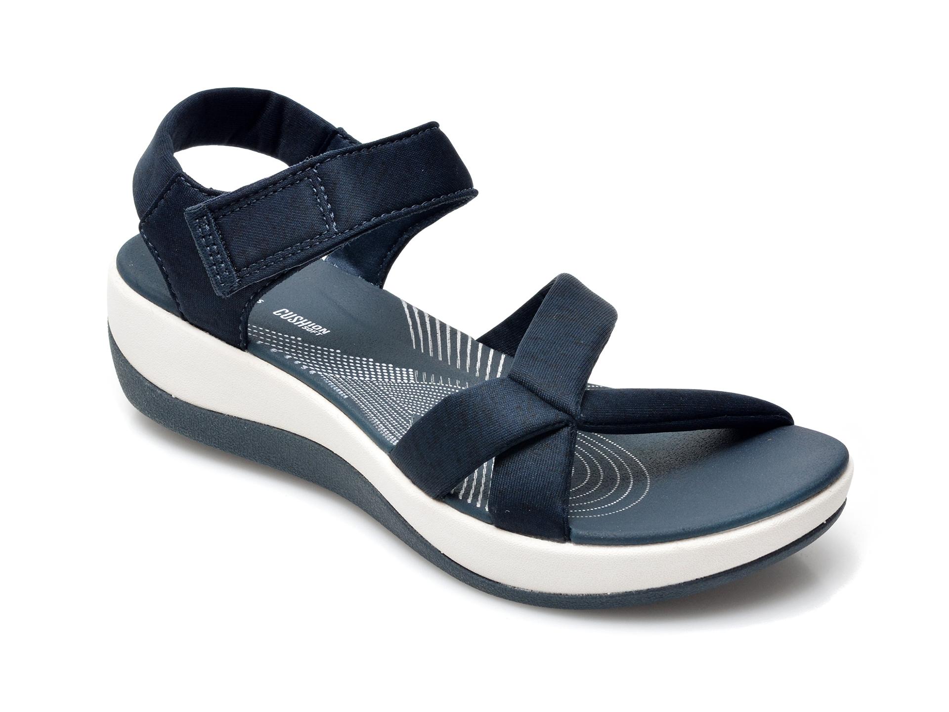 Sandale CLARKS bleumarin, Arla Gracie, din material textil imagine otter.ro 2021