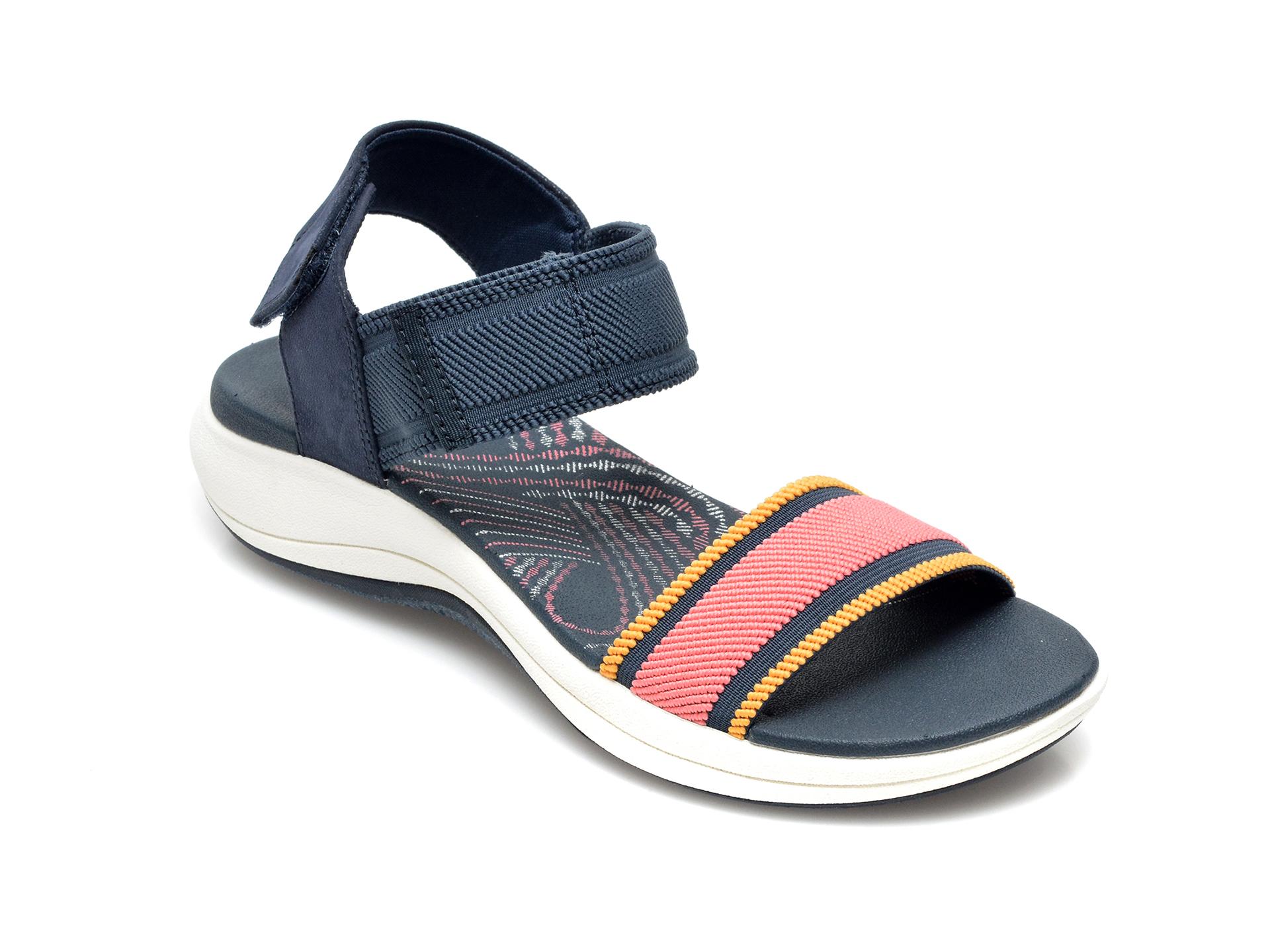 Sandale CLARKS bleumarin, Mira Sea, din material textil imagine otter.ro 2021