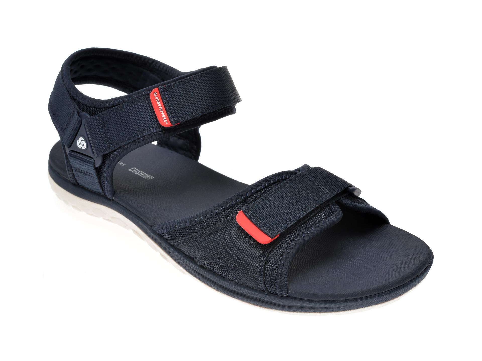 Sandale CLARKS bleumarin, Step Beat Sun, din material textil imagine