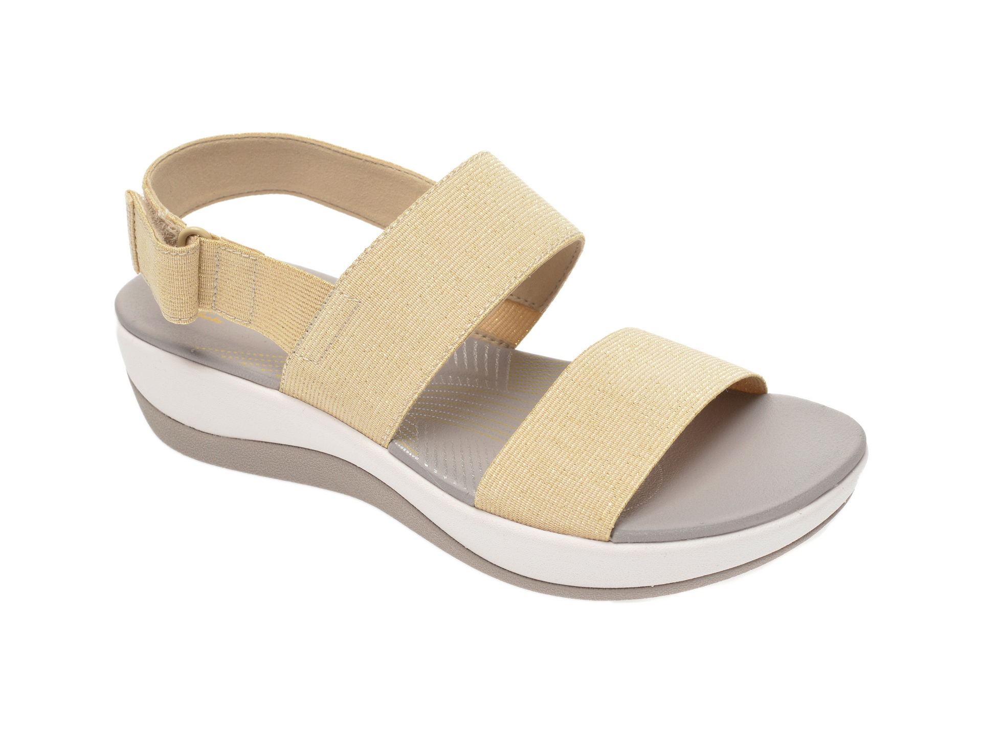 Sandale CLARKS crem, Arla Jacory, din material textil