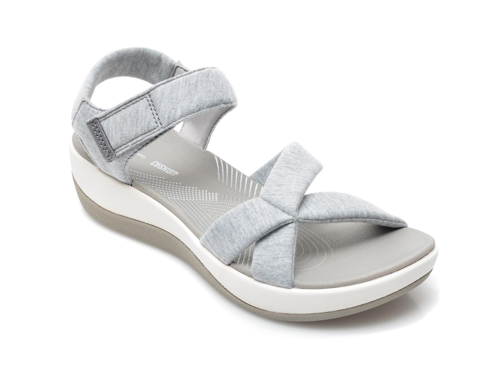 Sandale CLARKS gri, Arla Gracie, din material textil imagine otter.ro 2021