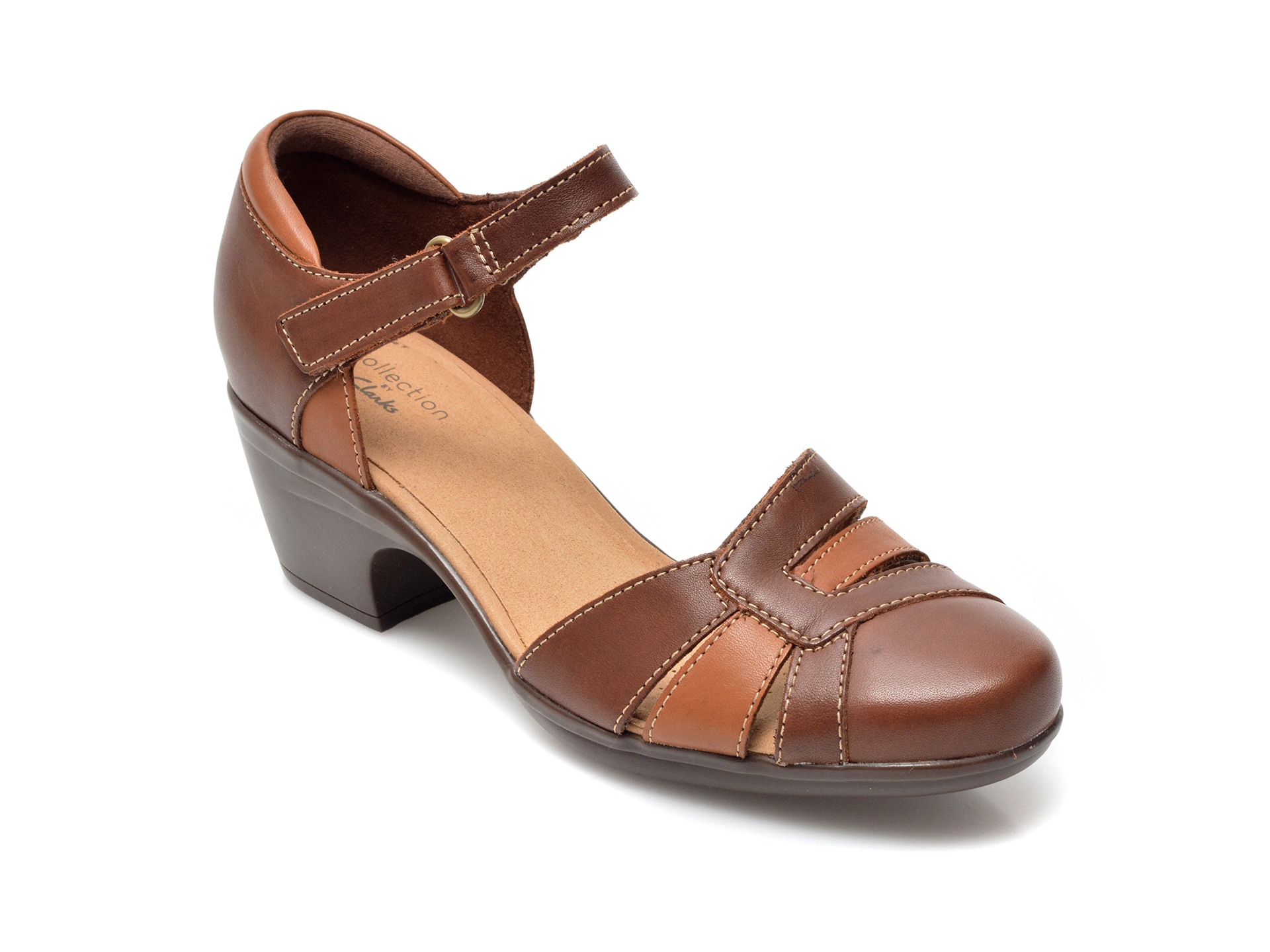 Sandale CLARKS maro, Emily Daisy, din piele naturala imagine otter.ro 2021