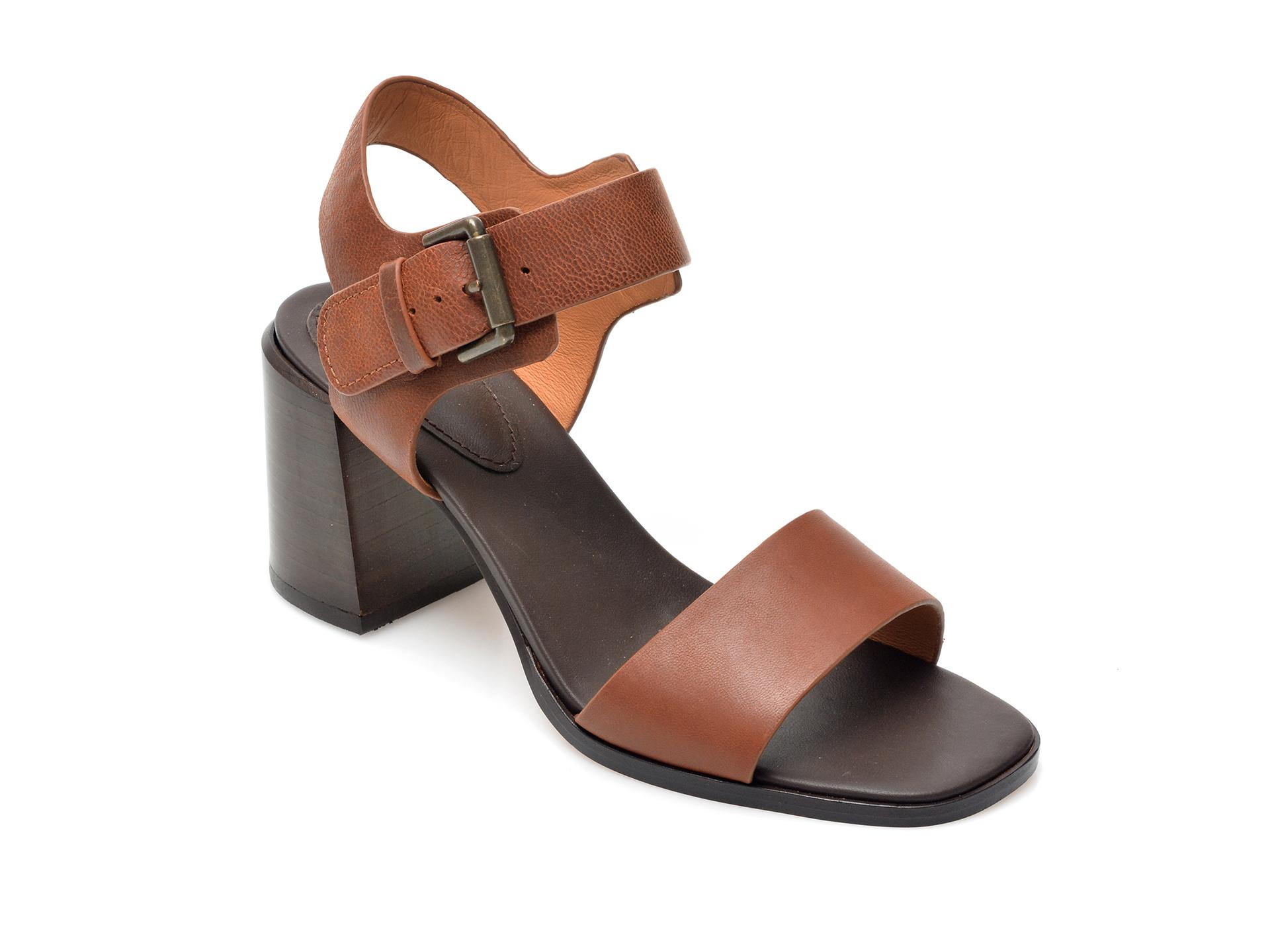 Sandale CLARKS maro, Landra70 Strap, din piele naturala imagine otter.ro 2021