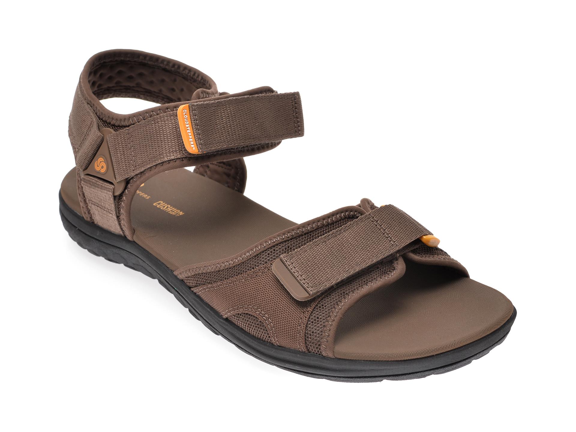 Sandale CLARKS maro, Step Beat Sun, din material textil imagine