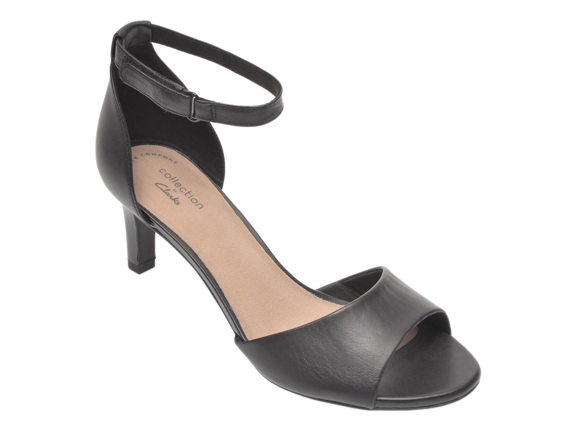 Sandale CLARKS negre, Alice Greta, din piele naturala