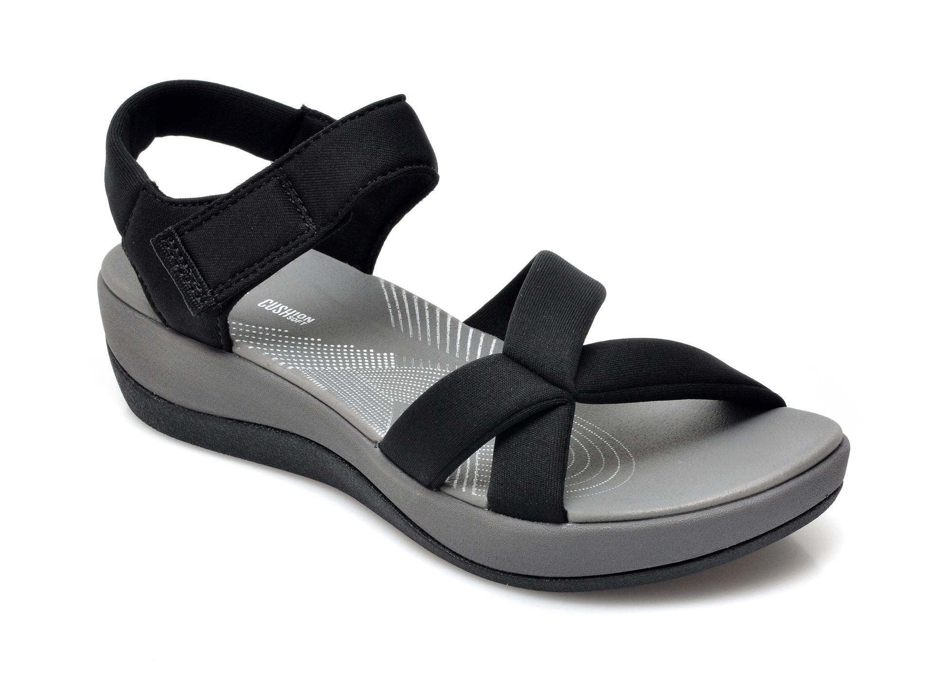 Sandale CLARKS negre, Arla Gracie, din material textil imagine otter.ro 2021