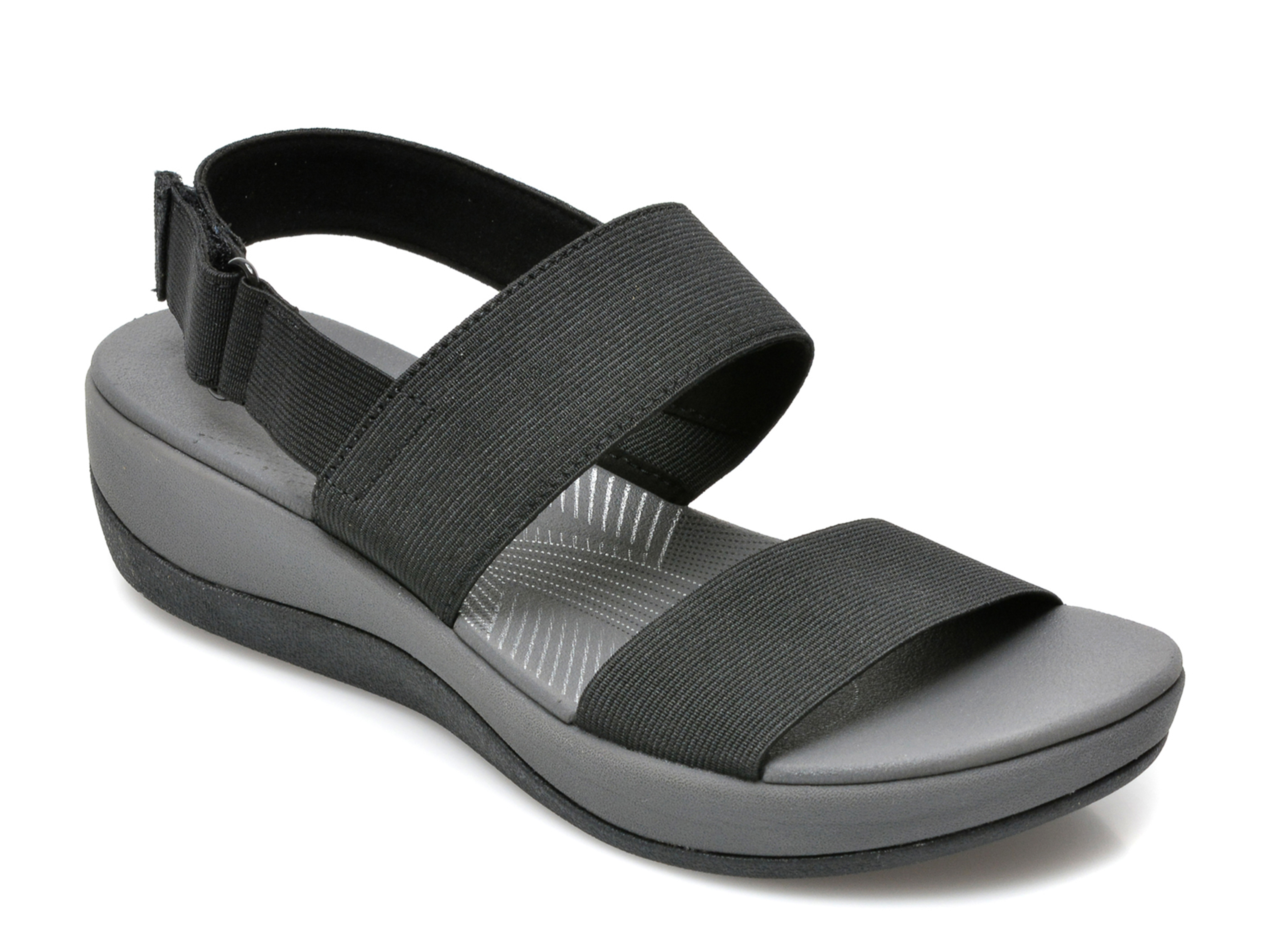 Sandale CLARKS negre, Arla Jacory, din piele ecologica imagine otter.ro 2021