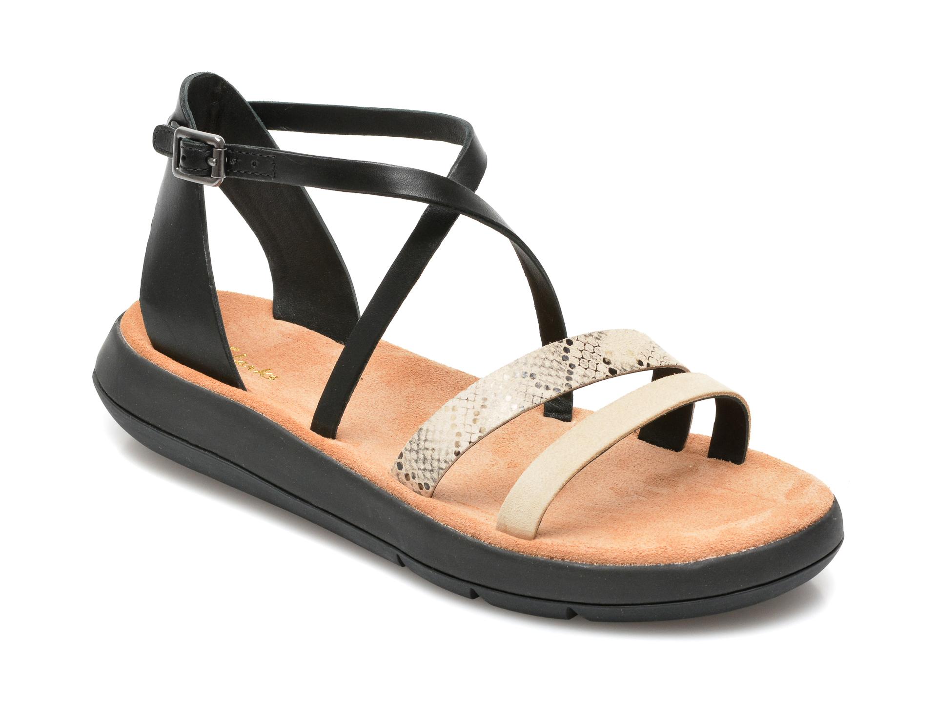 Sandale CLARKS nude, Deva Mae, din piele naturala