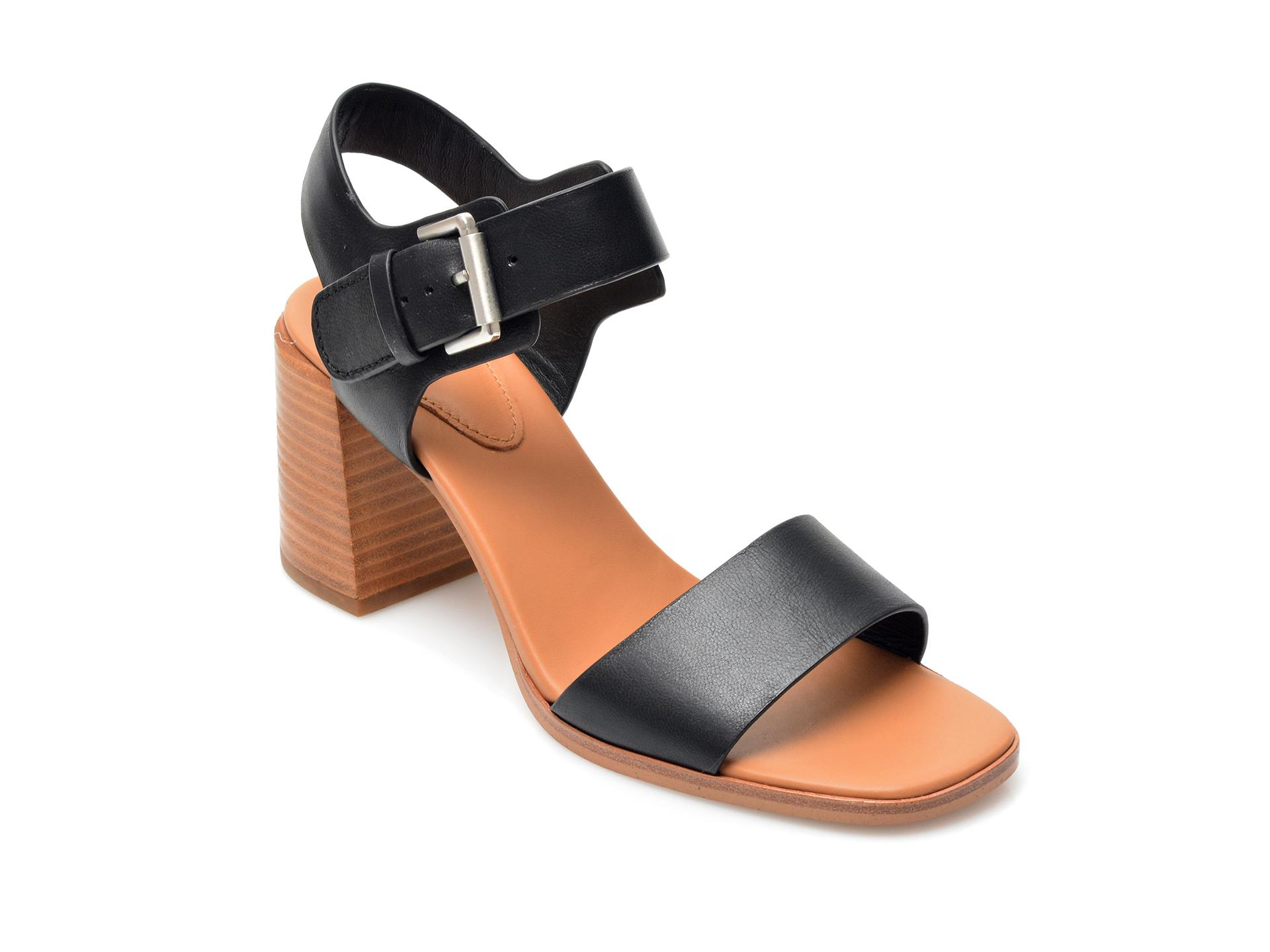 Sandale CLARKS negre, Landra70 Strap, din piele naturala imagine otter.ro 2021