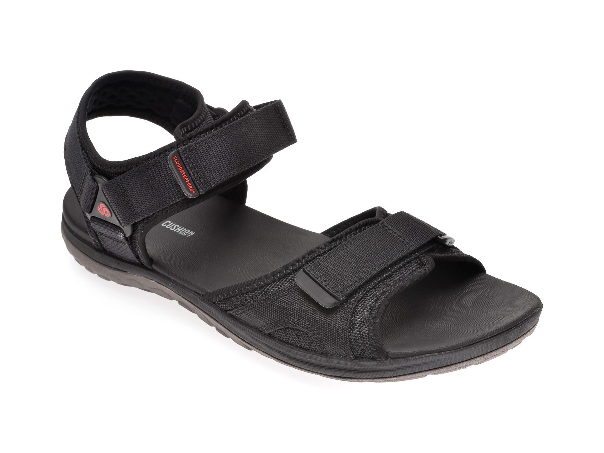Sandale CLARKS negre, Step Beat Sun, din material textil imagine