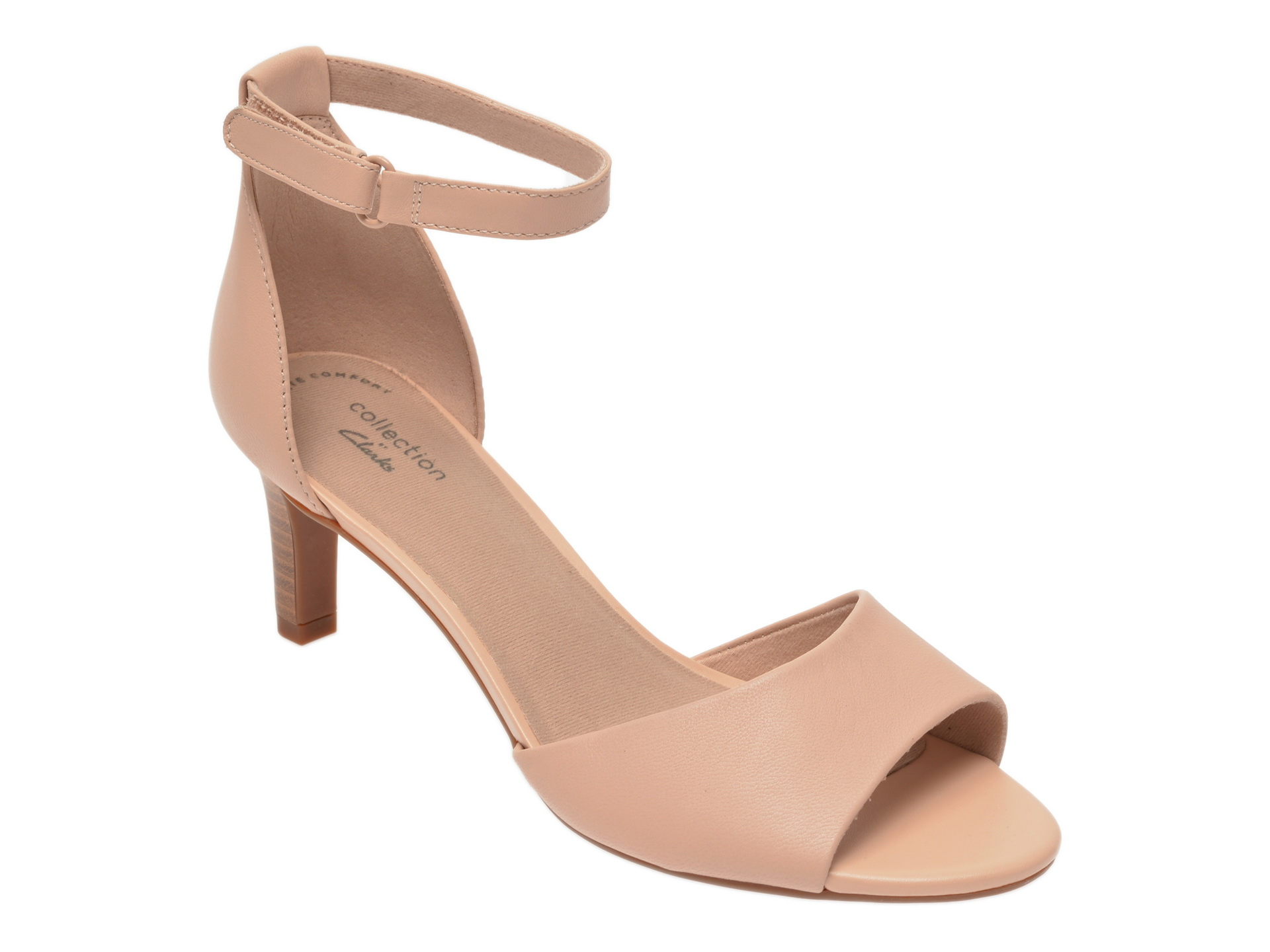 Sandale CLARKS nude, Alice Greta, din piele naturala New