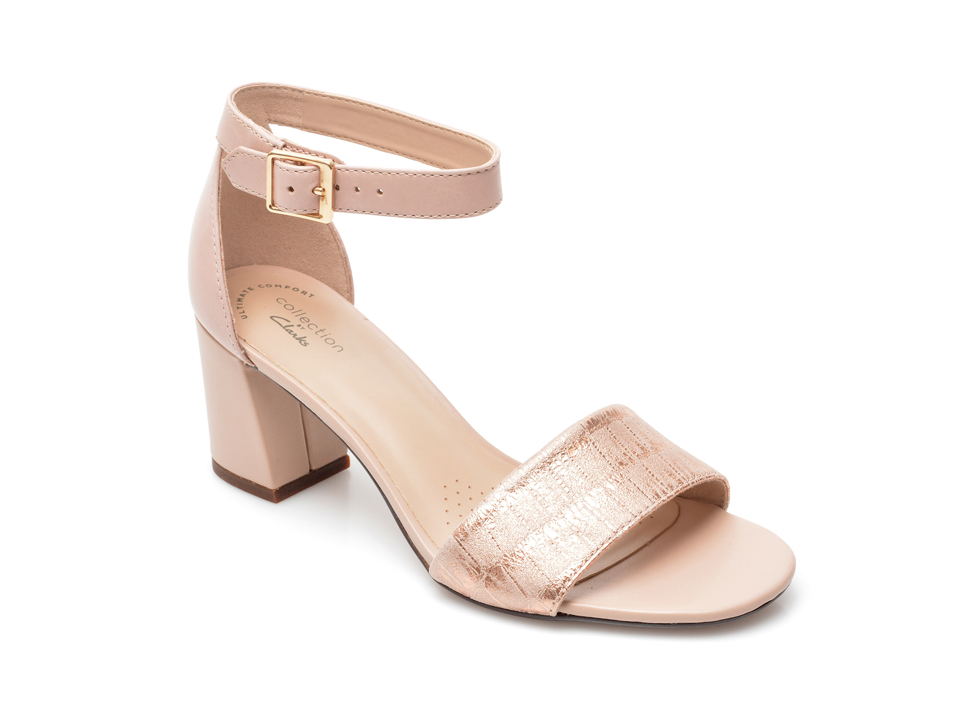 Sandale CLARKS nude, Jocelynne Cam, din piele naturala imagine otter.ro 2021