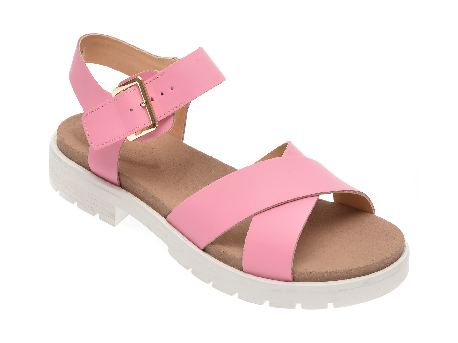 Sandale CLARKS roz, Orinoco Strap, din piele naturala New