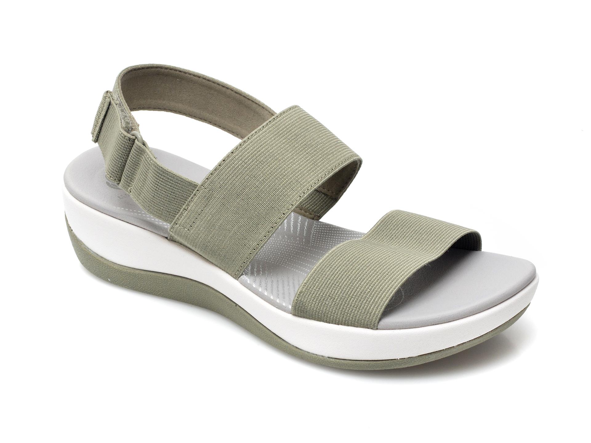 Sandale CLARKS verzi, Arla Jacory, din material textil imagine otter.ro