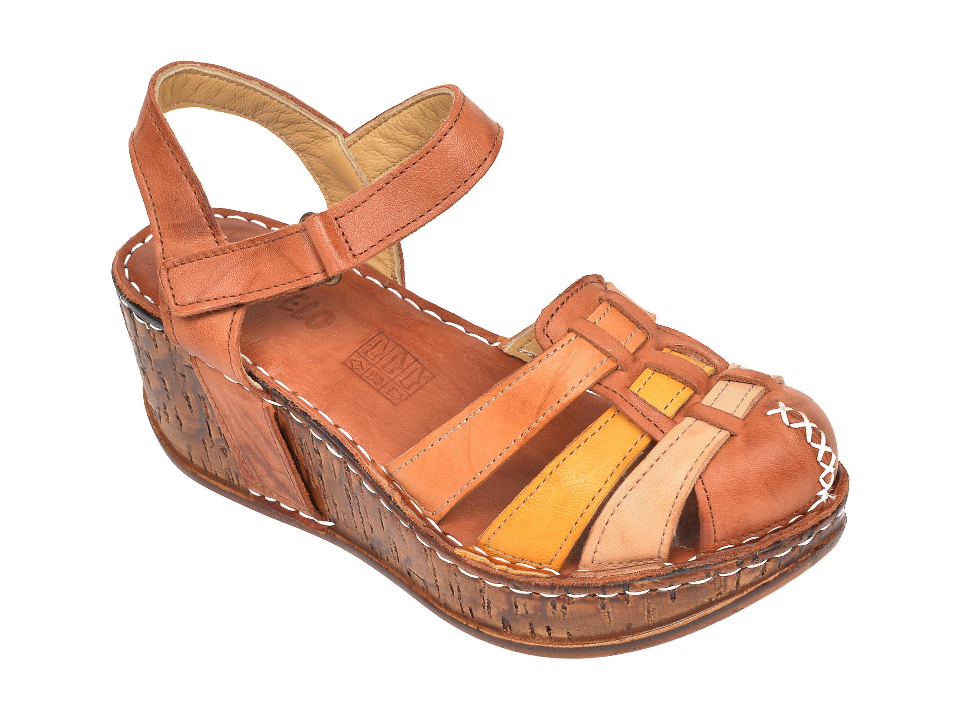 Sandale CONSUELO maro, 1430, din piele naturala