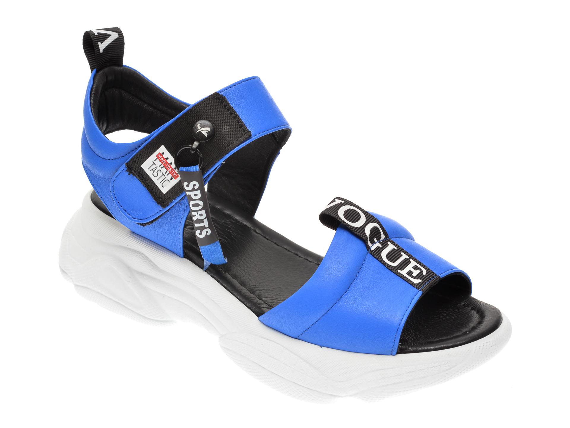 Sandale DACOTA albastre, 235946, din piele naturala