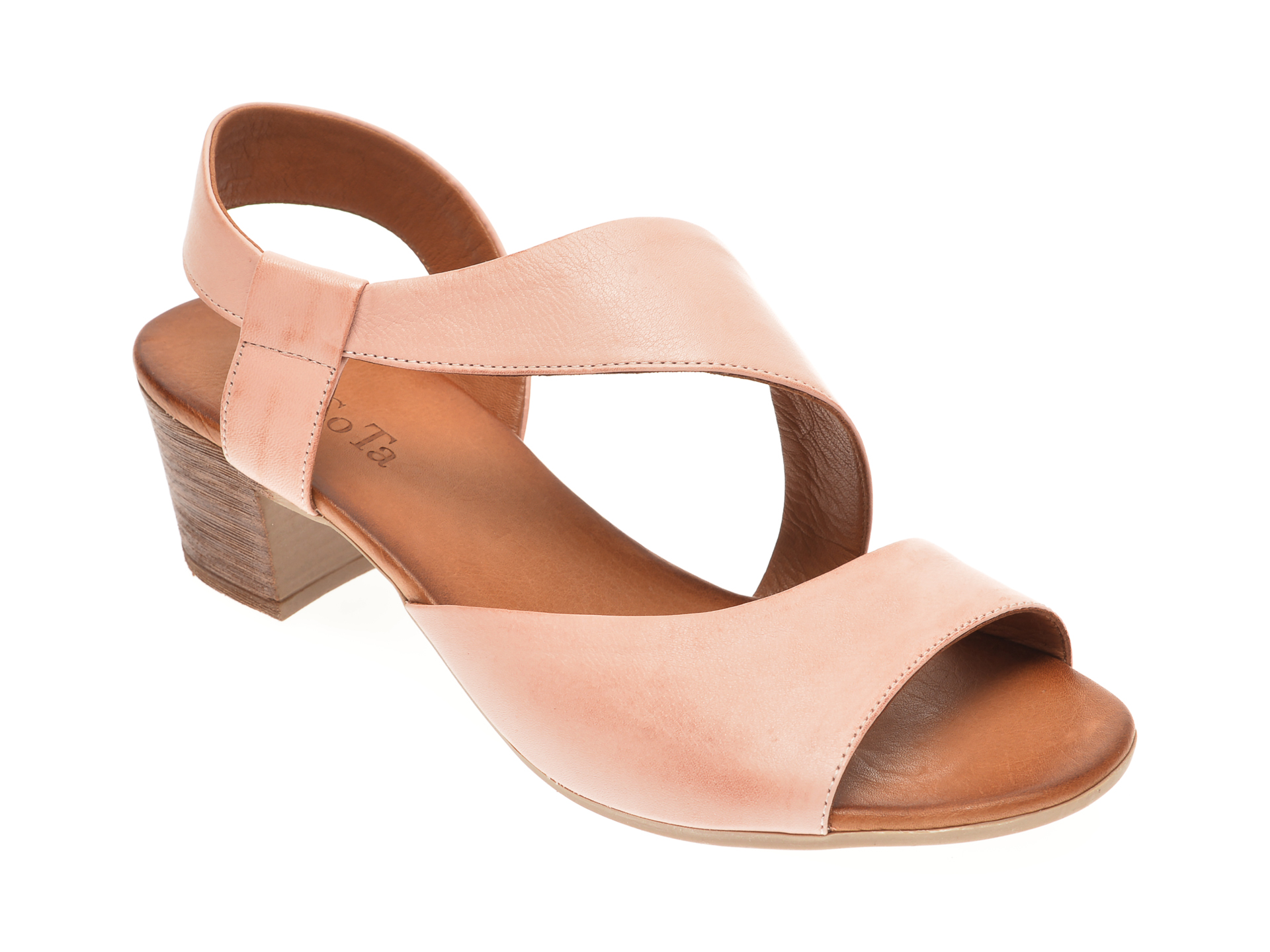 Sandale DACOTA nude, 085108, din piele naturala