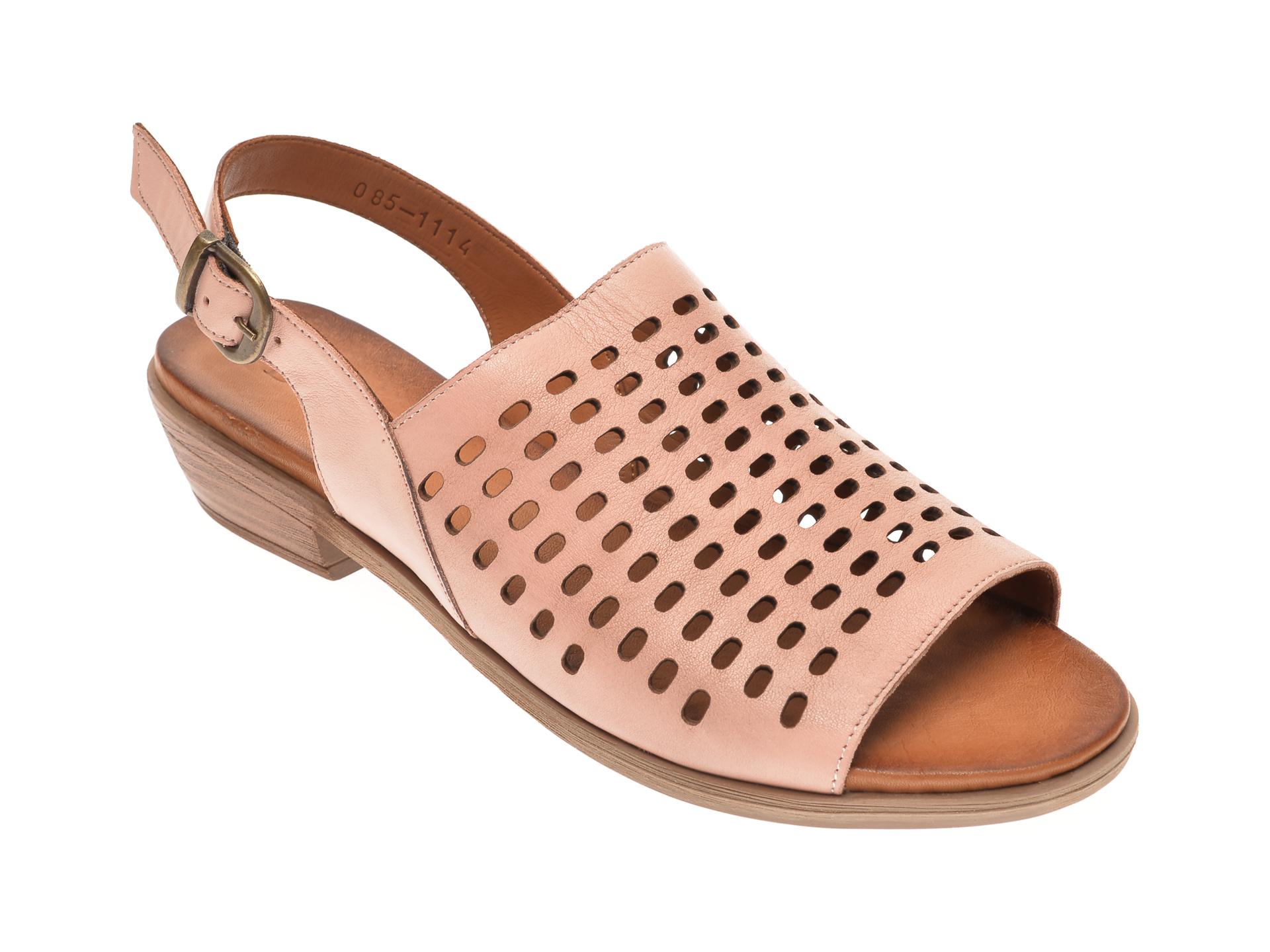 Sandale DACOTA nude, 0851114, din piele naturala